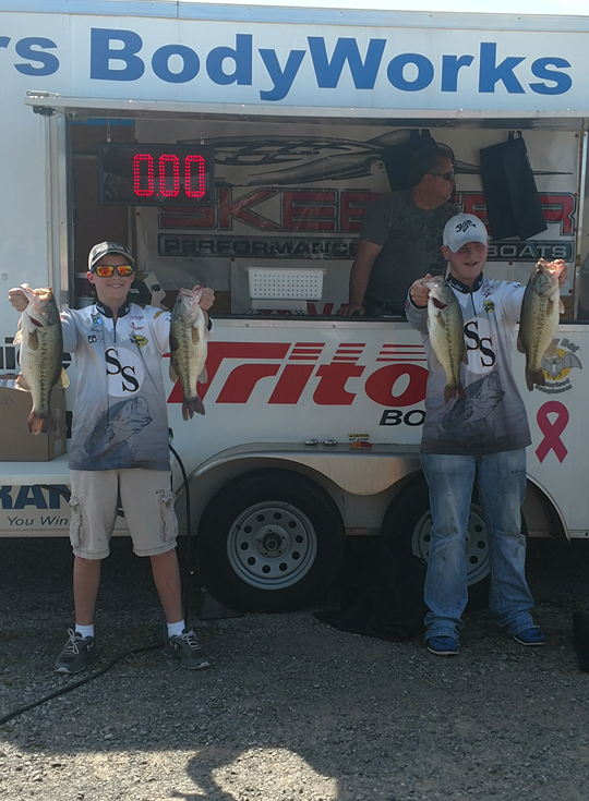 Hunter Hilger and Noah Daczewitz placed top-ten both days and first on Saturday. SUBMITTED.