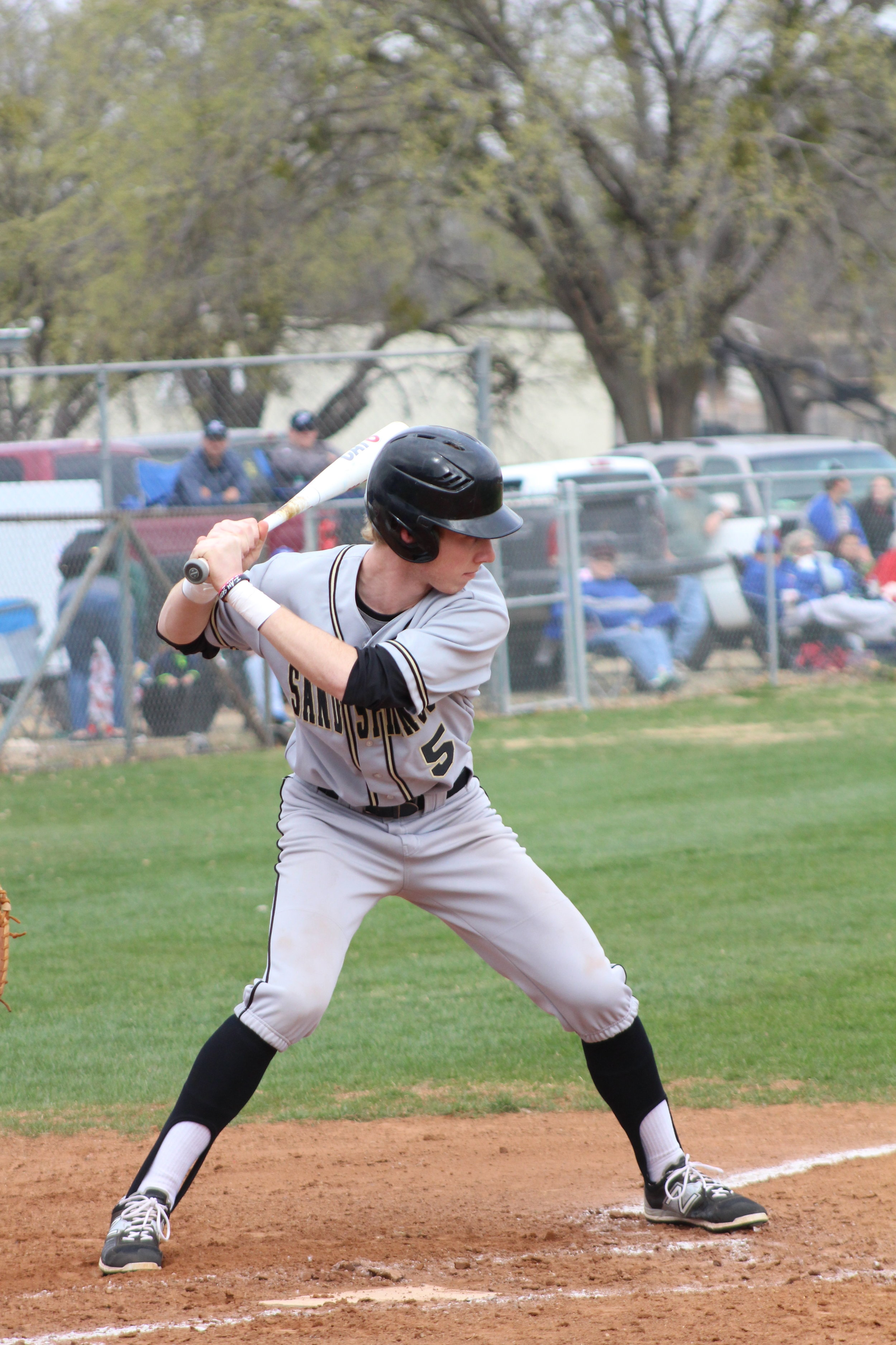 CPHS senior Hunter Greahouse hit a 3RBI double in a 9-8 loss to Broken Arrow Friday. (Photo: Scott Emigh).