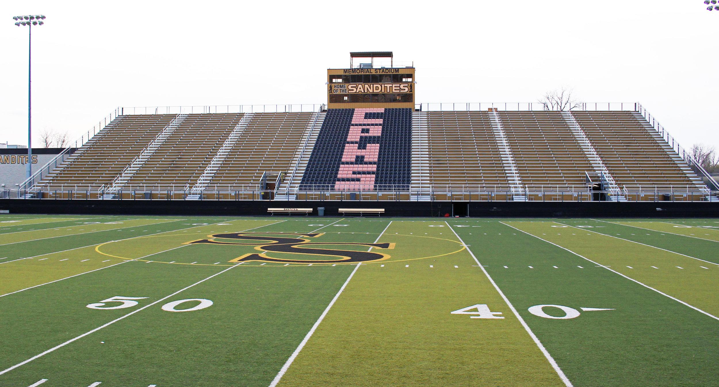 Charles Page high school memorial stadium 500 north adams road