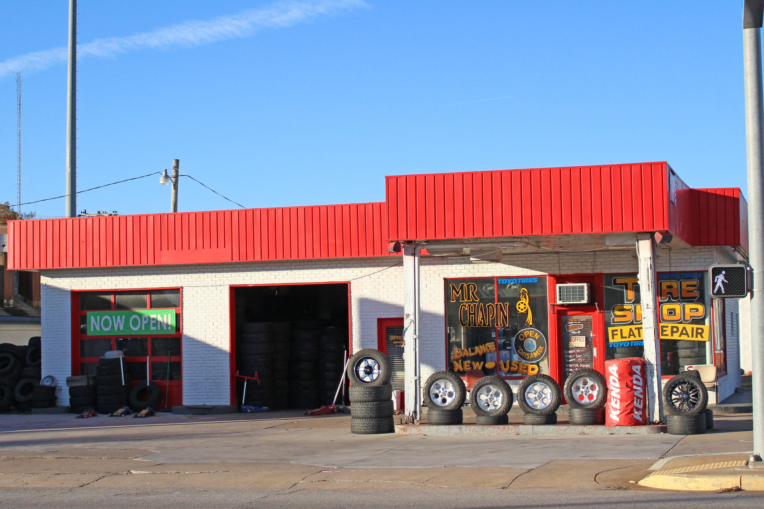 Mr. Chapin tire shop - downtown 125 east 2nd street