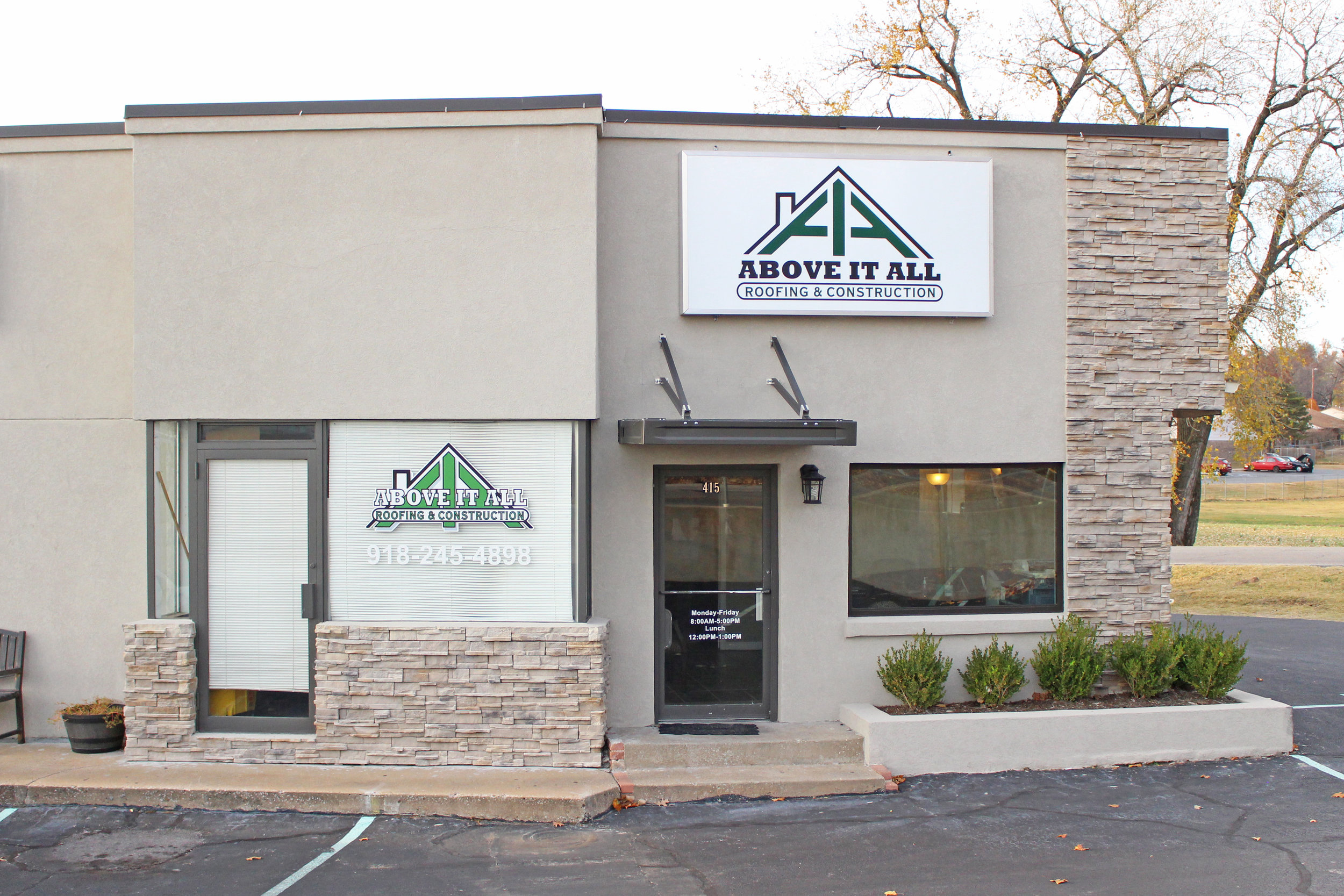 above it all roofing & construction - livi lee's corner 415 east broadway street