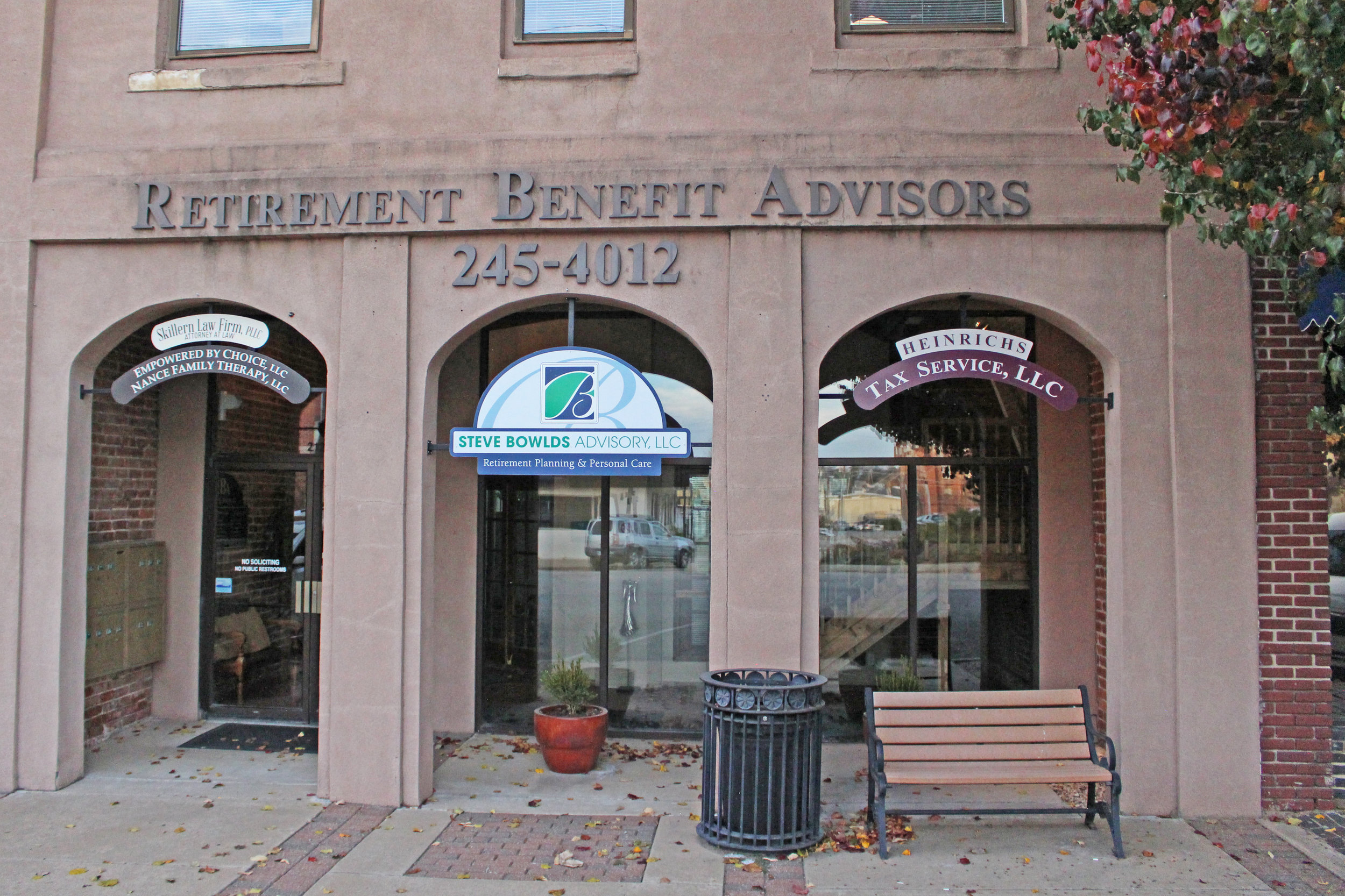 retirement benefit advisors - downtown 212 north main street, suite 201