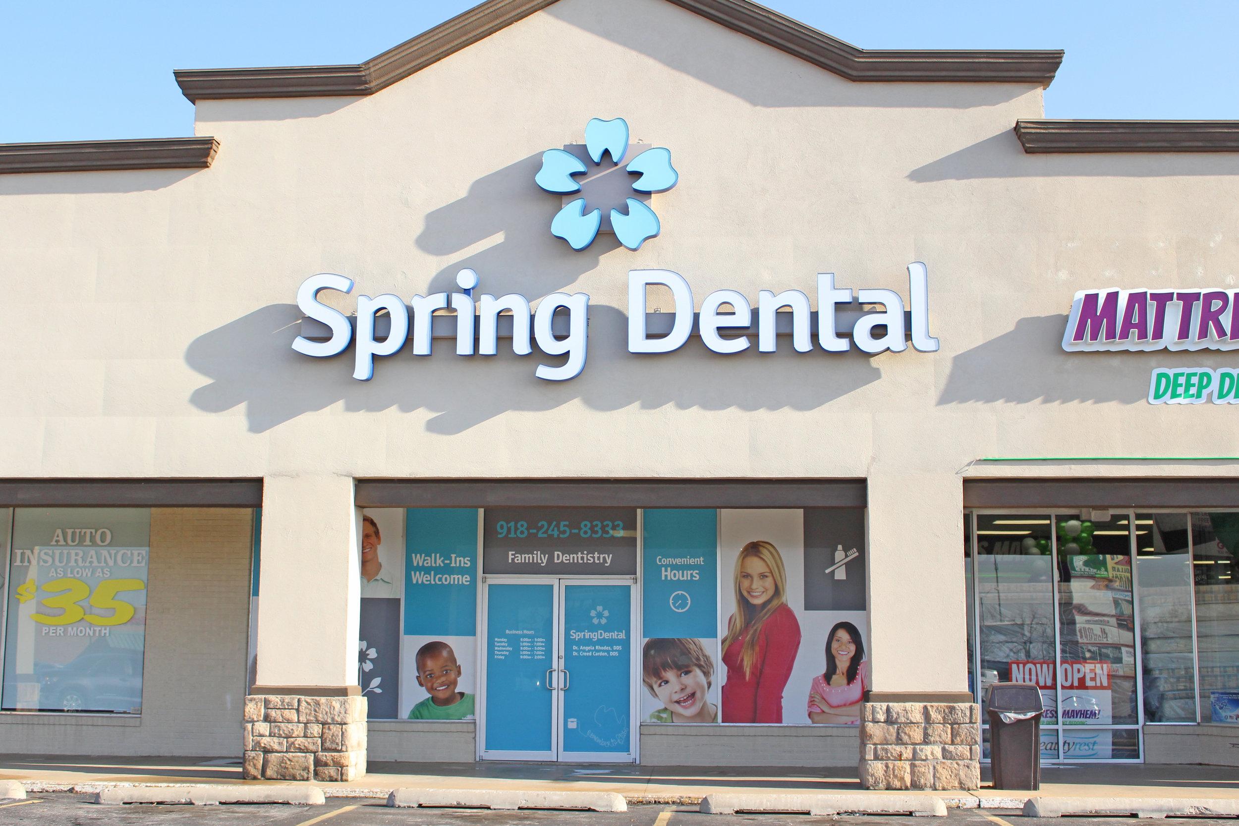 spring dental -shops at adams road 530 plaza court