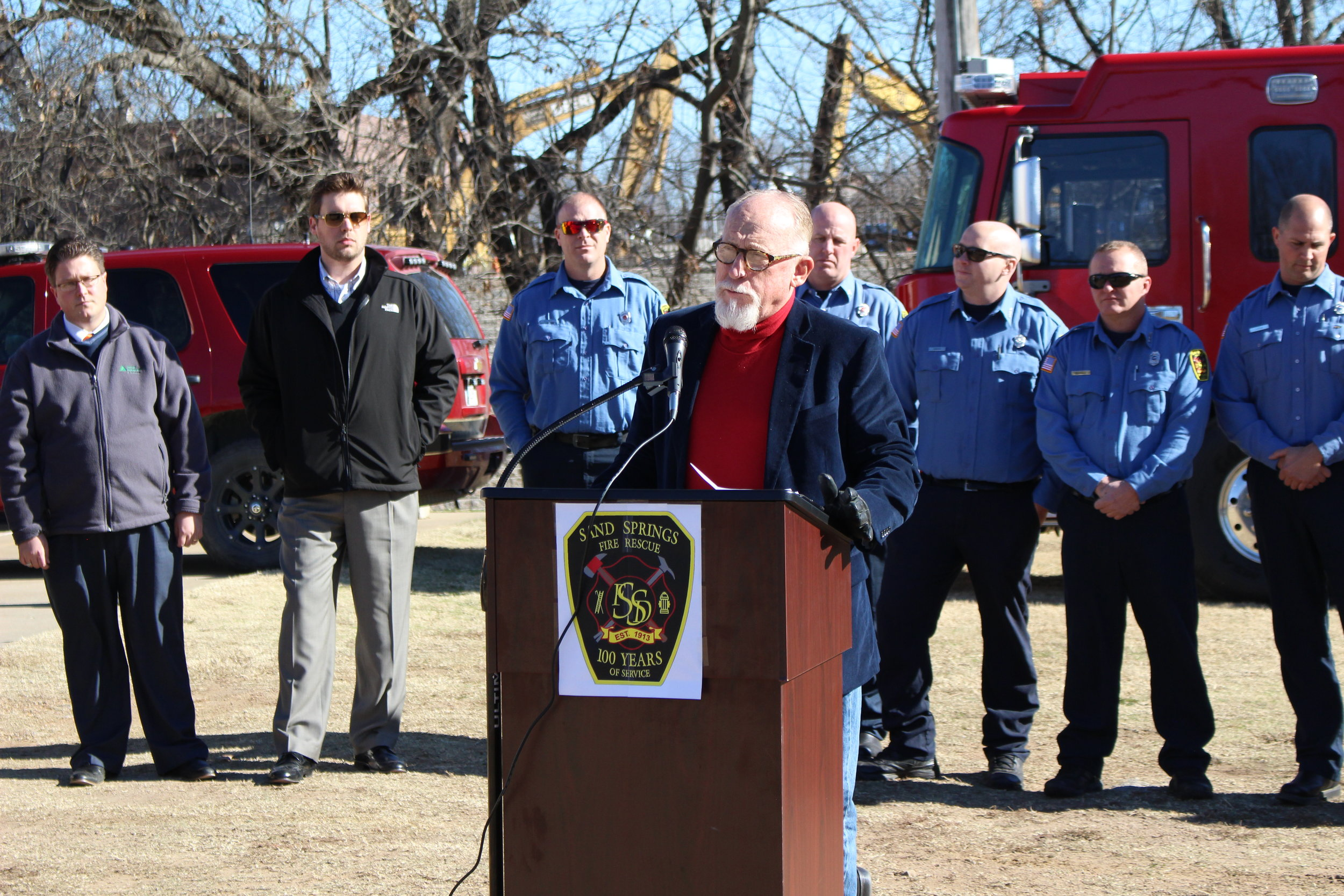 Mayor Mike Burdge speaks at the Fire Station No. 2 Ground-Breaking Ceremony.