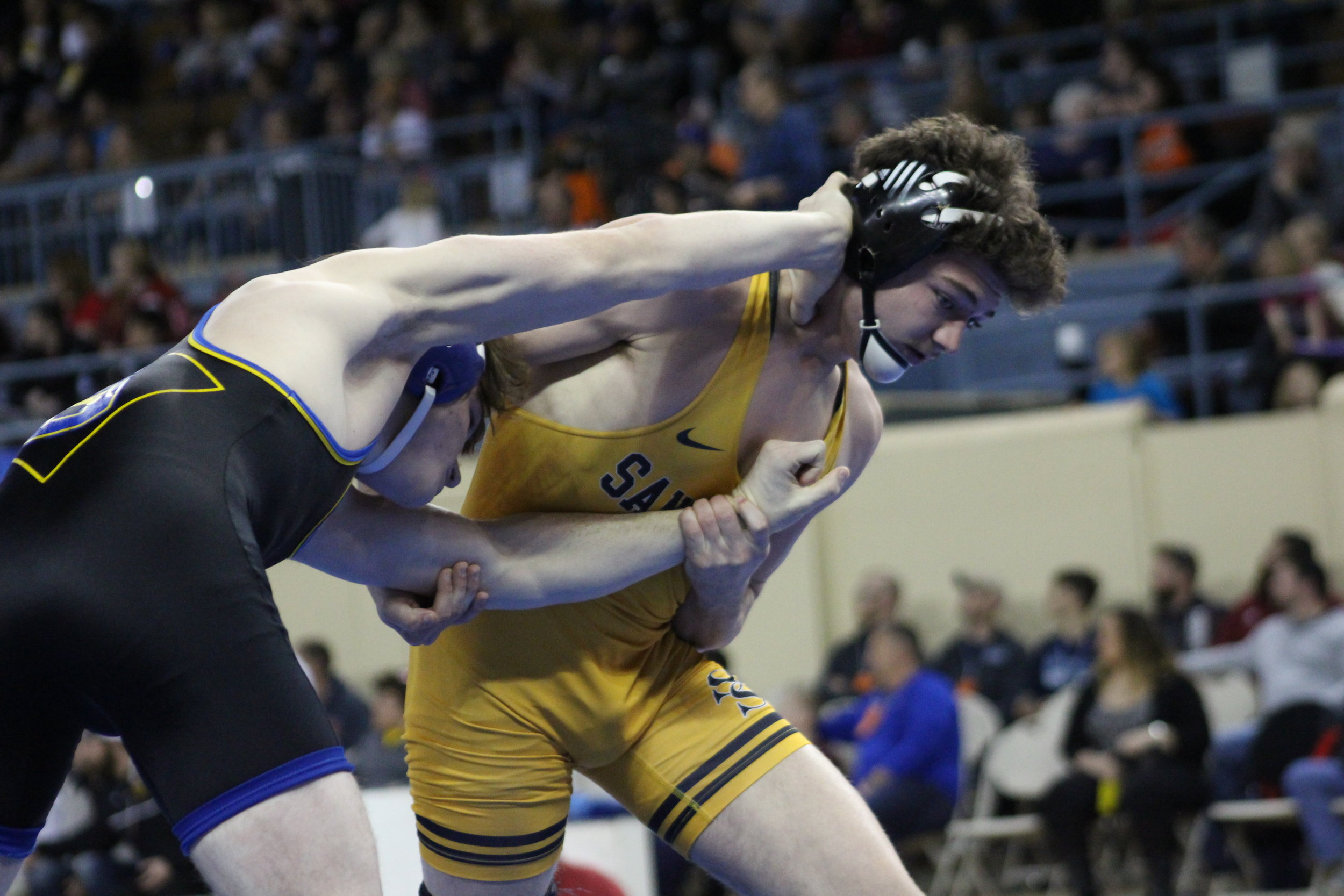 Jack Karstetter competes at the OSSAA 6A State Championship in 2017.
