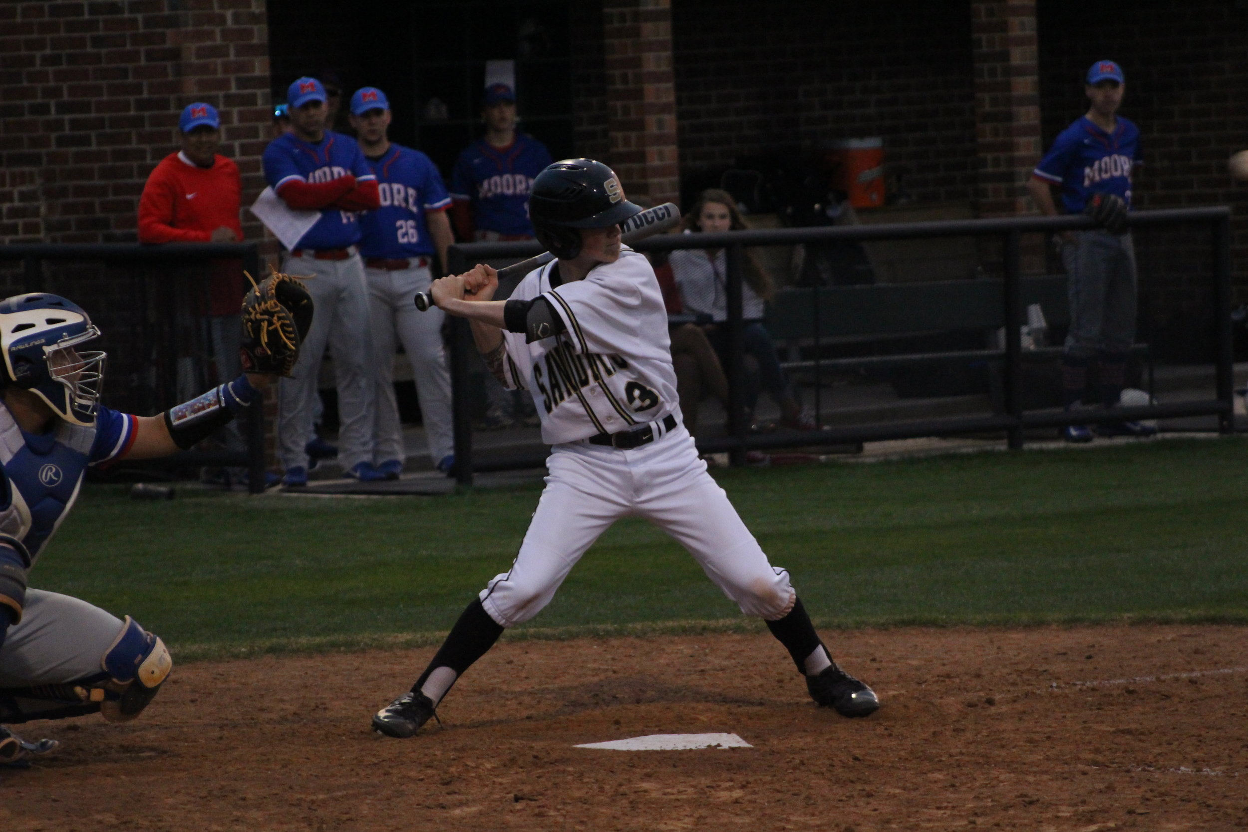 Ty Steelman scored two runs and one RBI in the 7-5 loss to Coweta. (Photo: Scott Emigh).