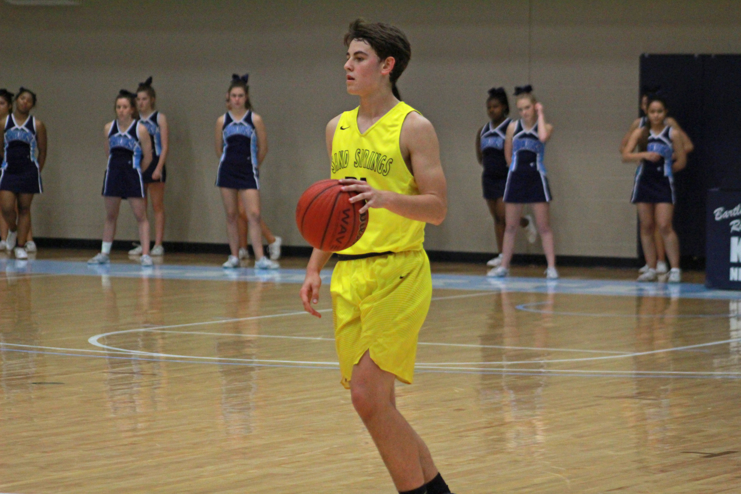 Cale Savage led his team with a career-high fourteen points against Bartlesville. (Photo: Morgan Miller).