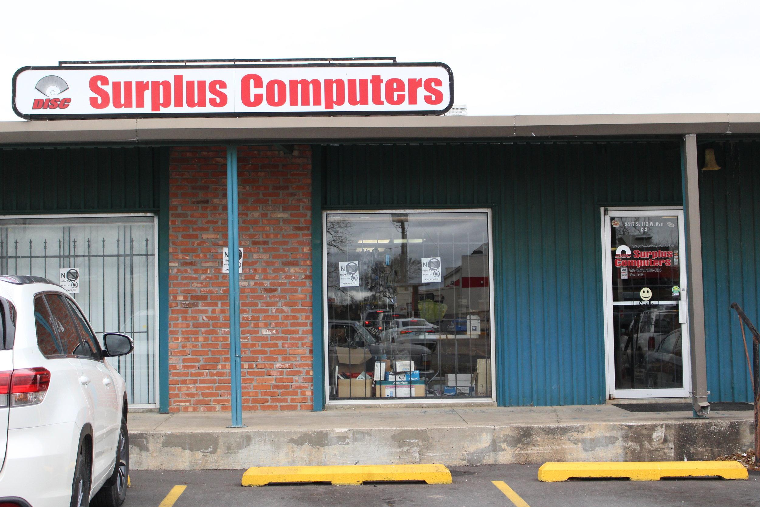 disc surplus computers - sandites' center 3417 south 113th west avenue