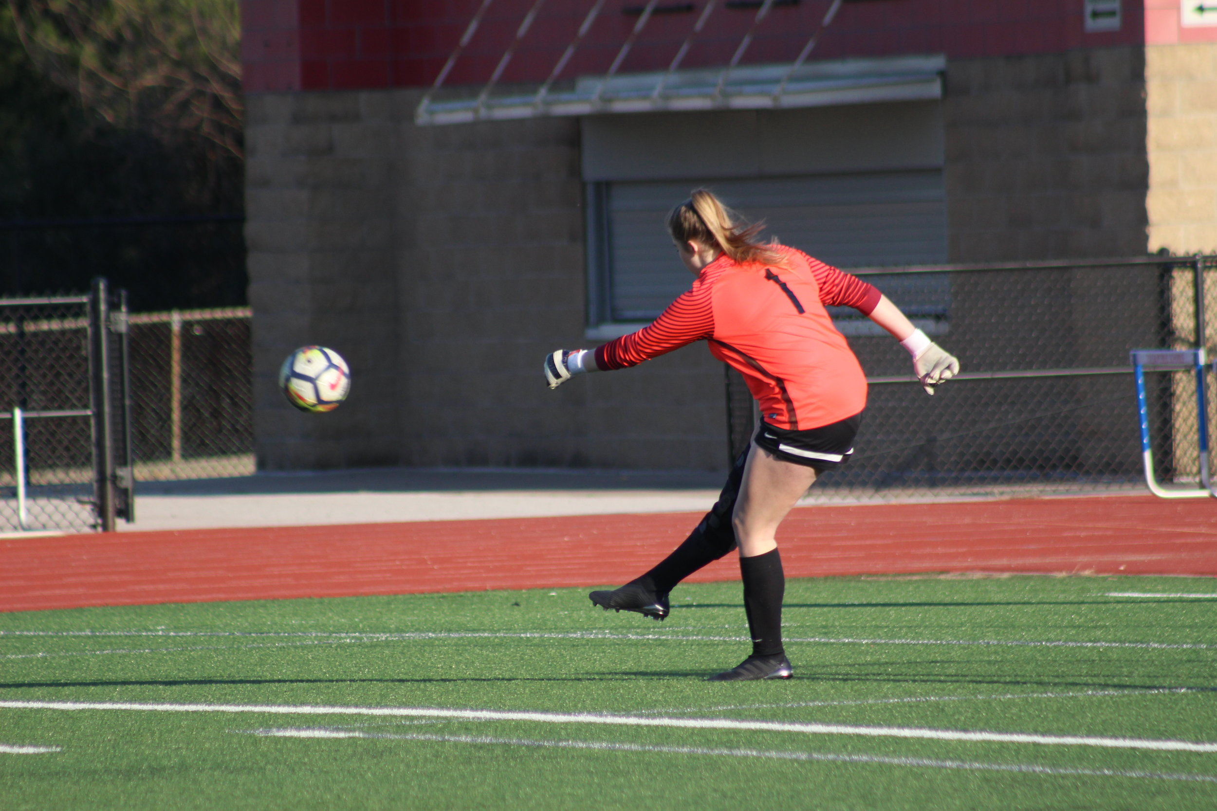 Senior keeper Abigail Banks saved a pair of games Saturday, winning them in overtime shootouts.