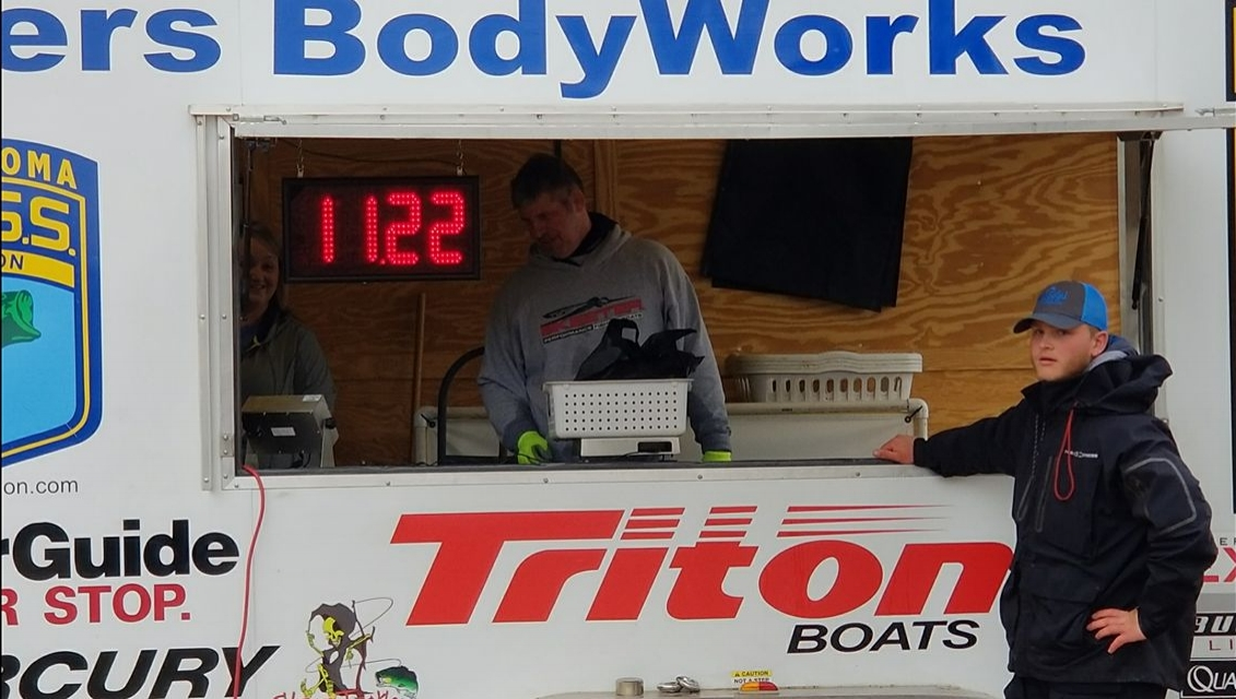 Charles Page High School student Noah Daczewitz took second place among non-boaters at Sunday's BASS tournament. (Submitted).