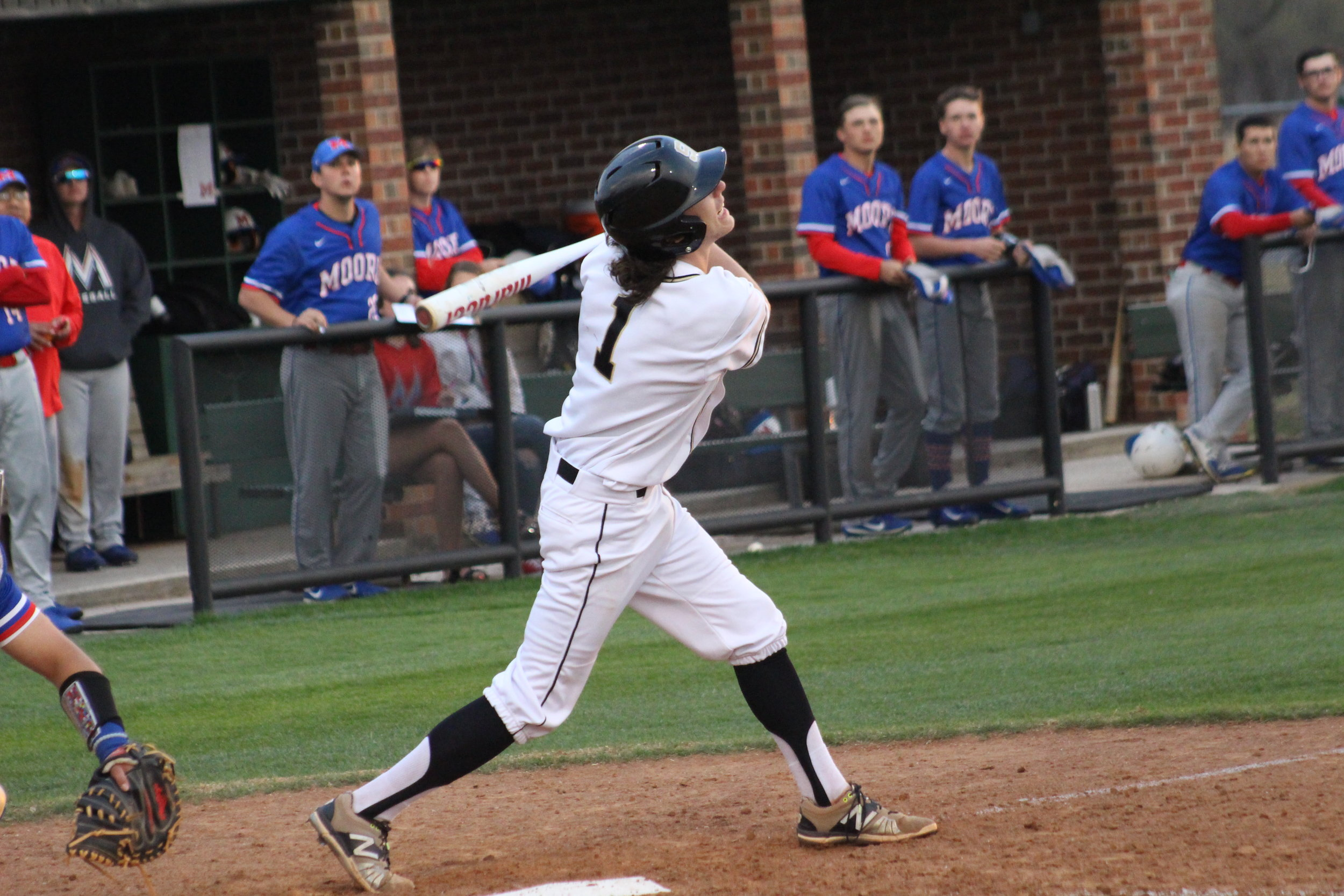 Mack Thompson has recorded three home runs this season at Rose State College.