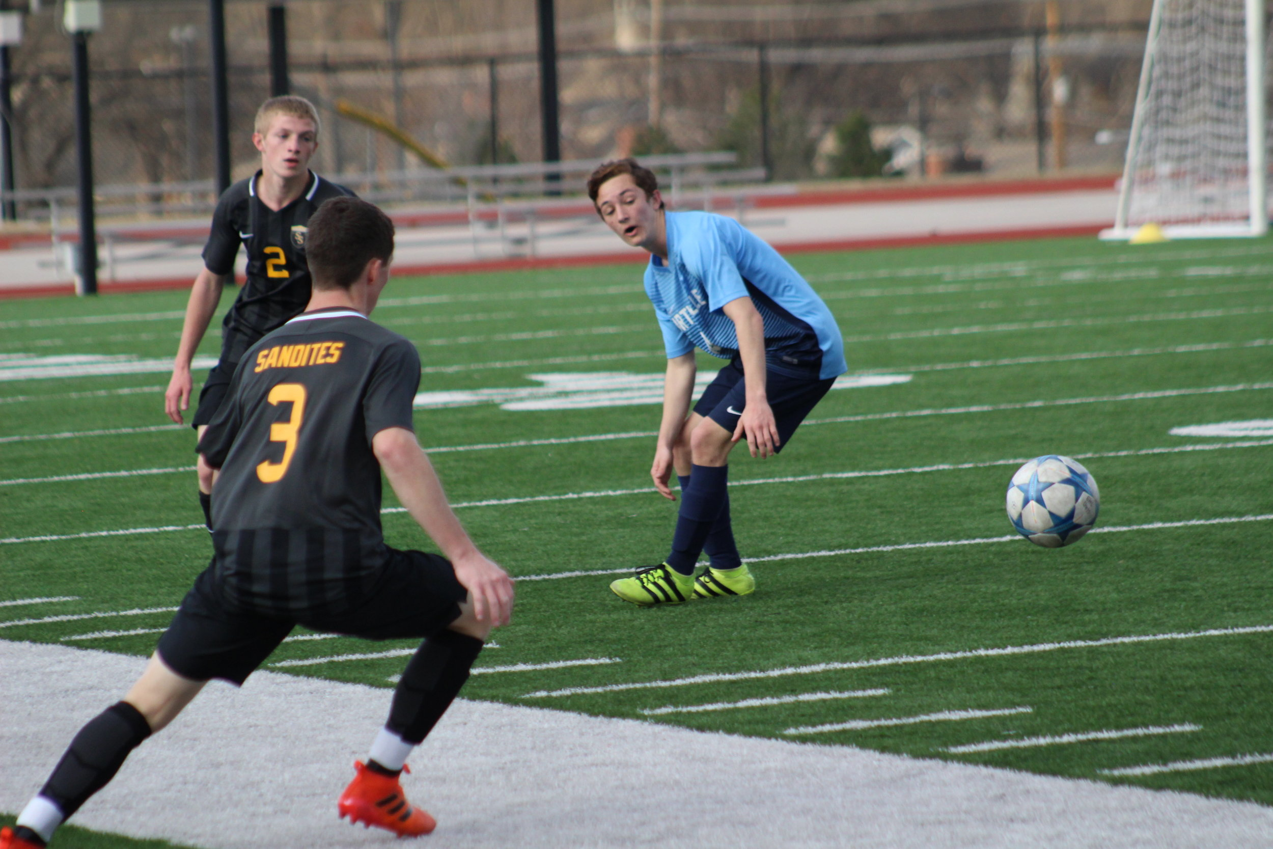 Sophomore Jaden Weiser scored the lone goal for the Sandites in an 8-1 Friday night loss at Union.