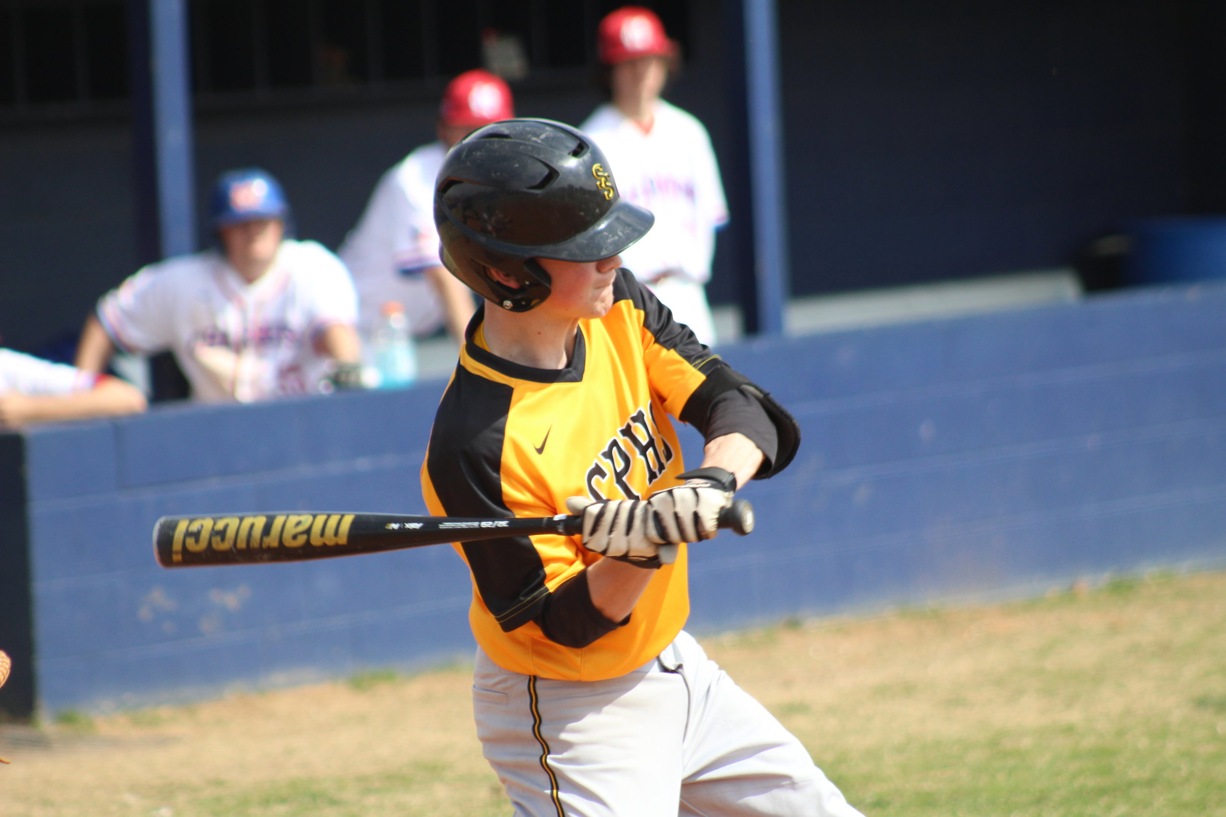 Ty Steelman was two-for-two at the plate against Booker T. Washington and scored three runs.