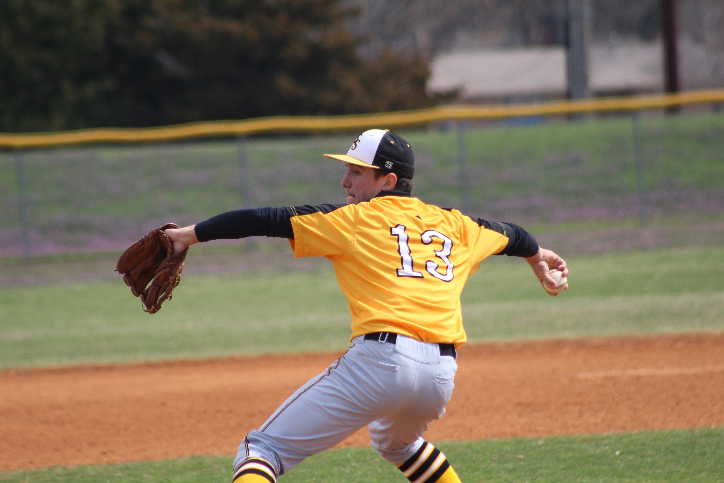 Riley Rutledge set the single-game season record for Sand Springs with eleven strikeouts.