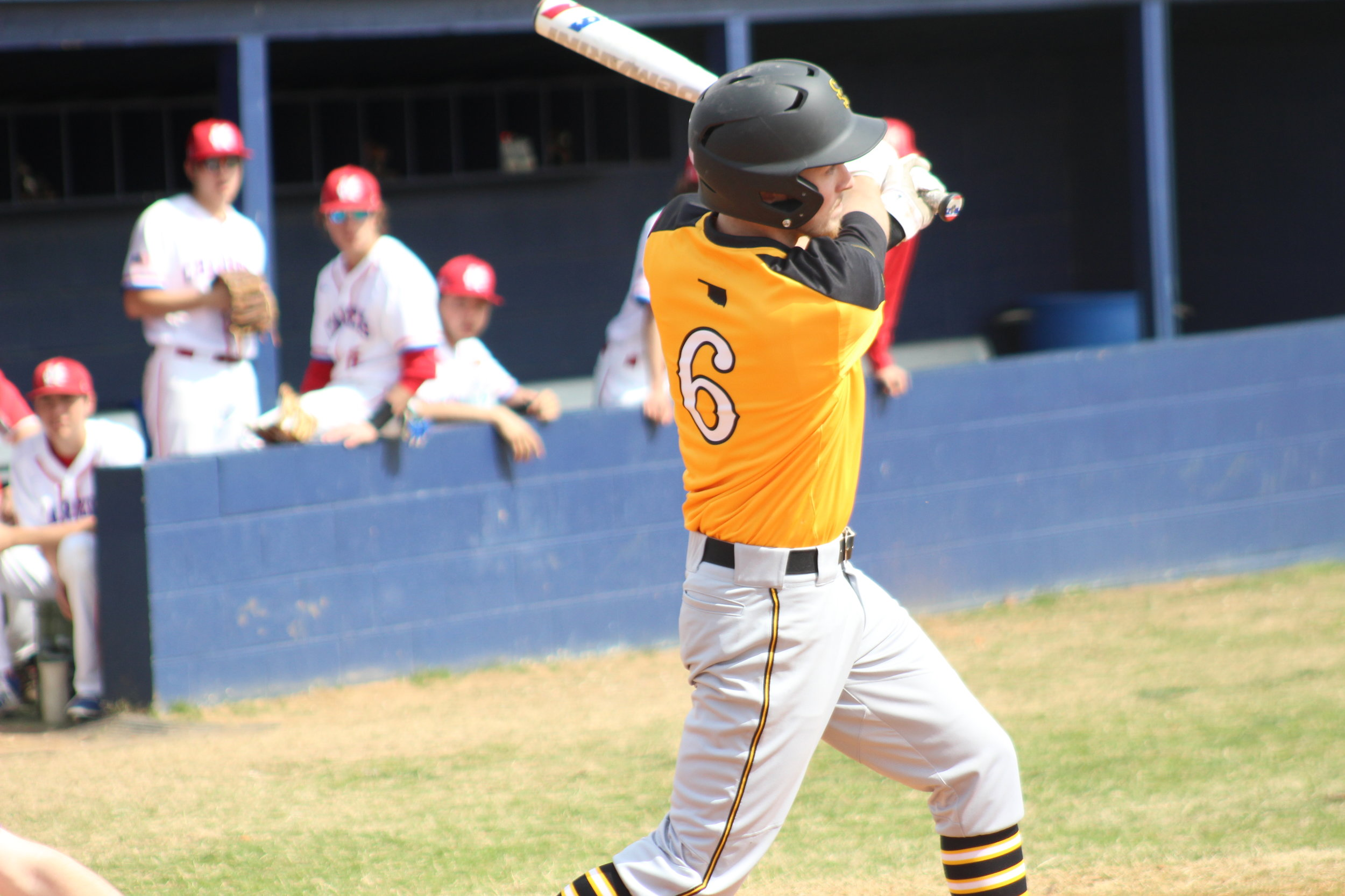 Lucas Adcock has hit the only grand slam of the season thus far for Sand Springs.