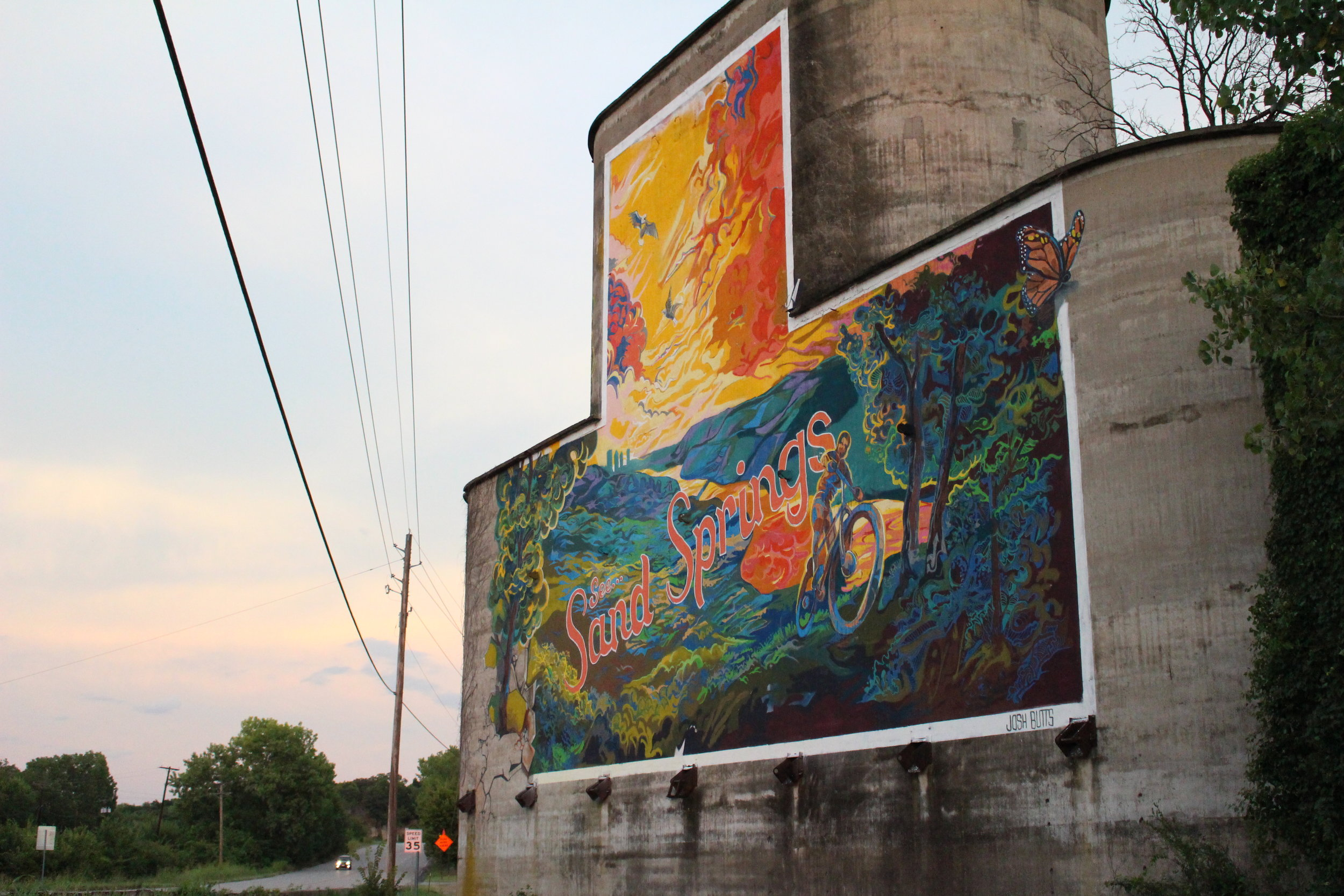 See Sand springs mural by josh butts - prattville 11450 west highway 51