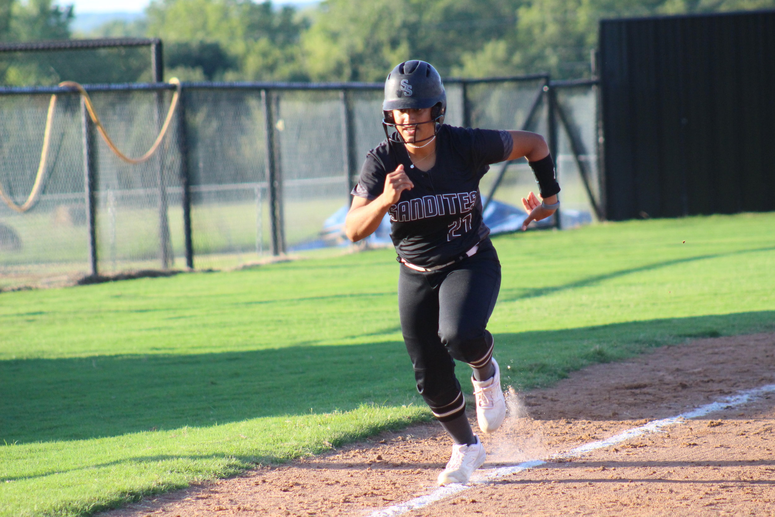 Sabrina Usher hit her fourth home run of the season Tuesday evening. (Photo: Scott Emigh).
