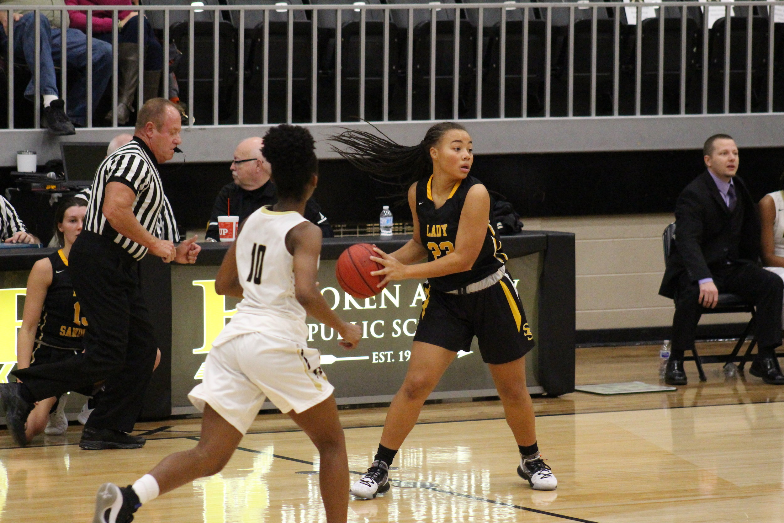 Sophomore Darrian Jordan has been a solid playmaker during her first varsity season.