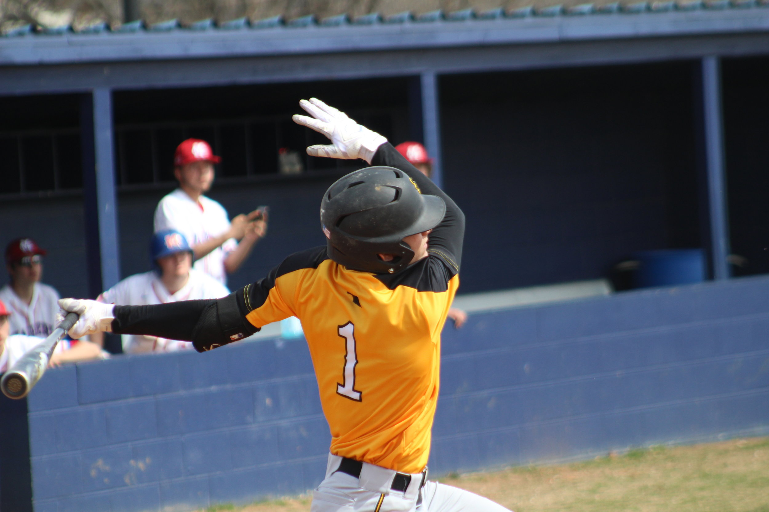 Tyler Ash recorded the first hit and first run of the season for Sand Springs.