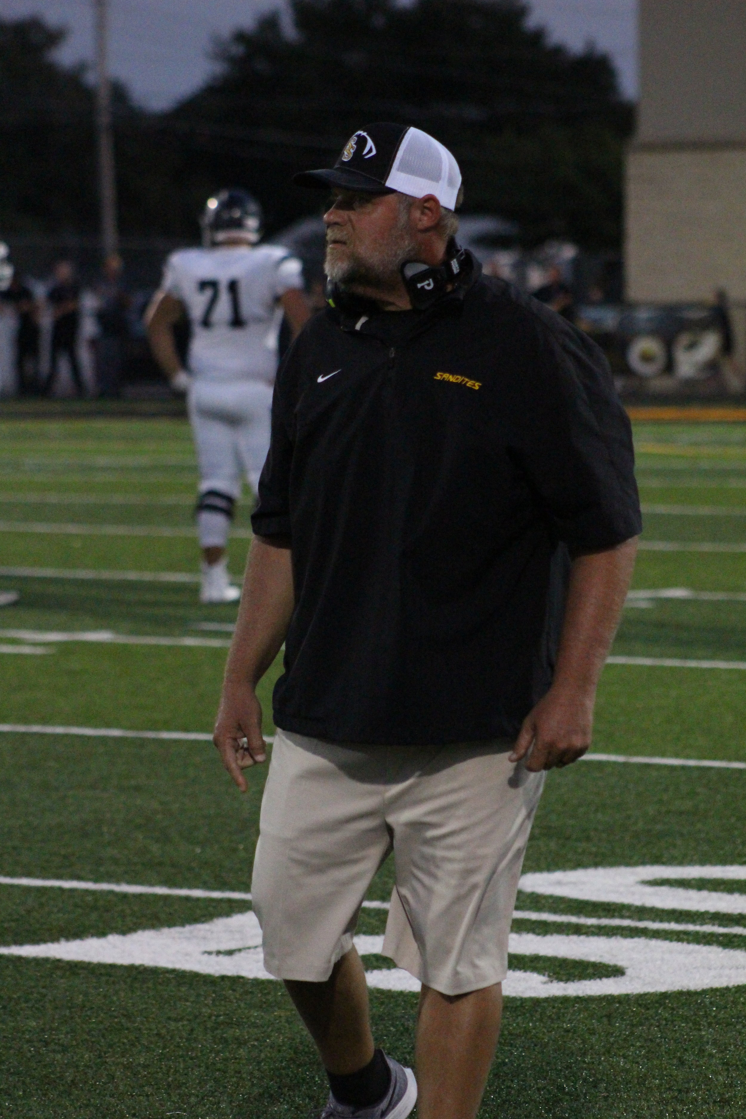 13th-year Head Coach Dustin Kinard improved to 65-69 overall, 42-41 in district action, and 34-28 at home with the 21-19 win over Shawnee. Kinard battled pancreatic cancer last year but announced he was cancer-free prior to the 2019 season.