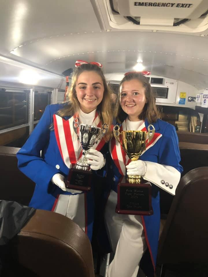 CPHS Drum Majors Alyssa Crutcher (left) and Kristin Shipley (right). (Photo by Shannon Crutcher).