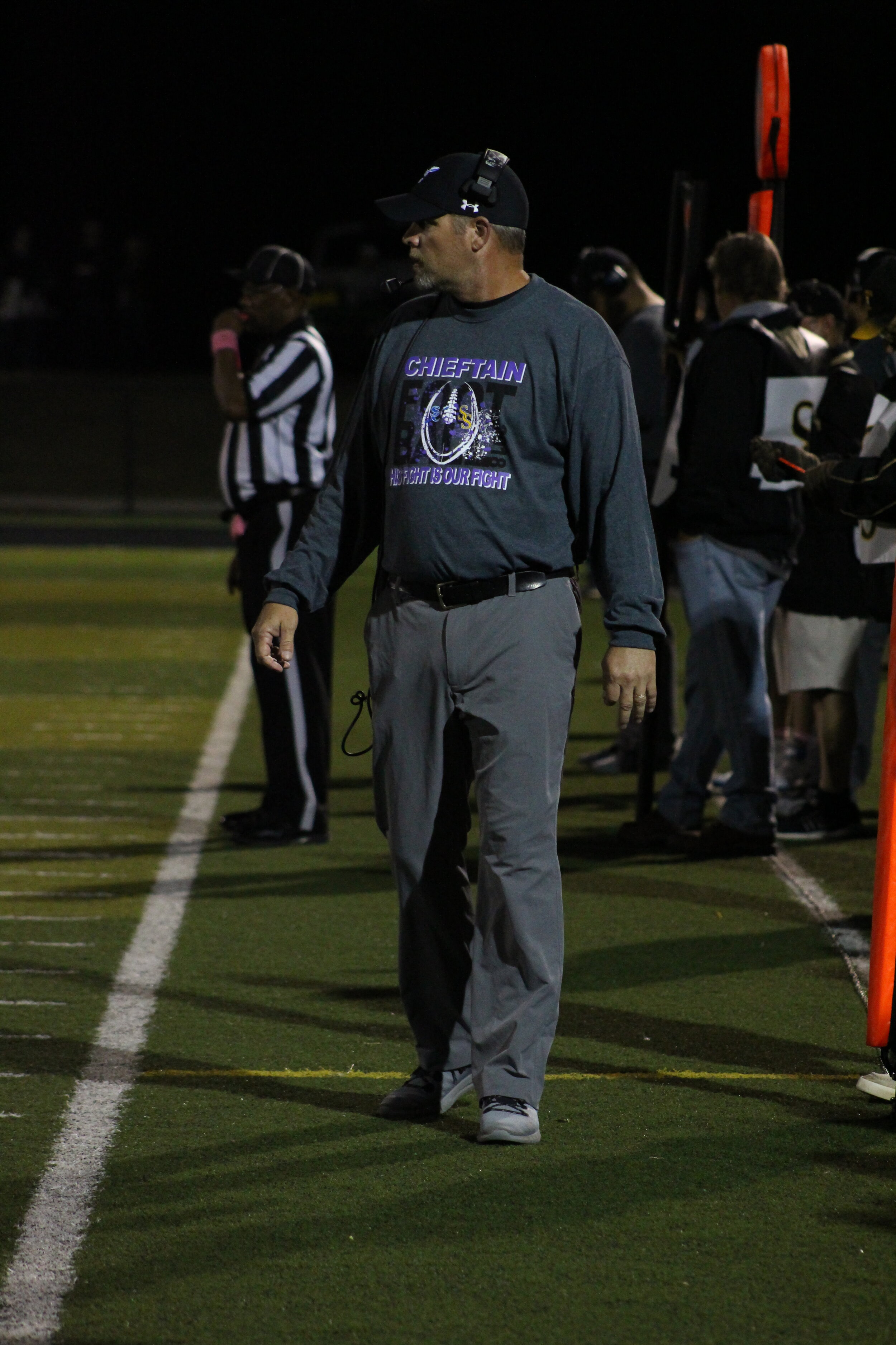 Sapulpa Head Coach Robert Borgstadt picked up his first Highway 97 win since switching sidelines four years ago. He was previously the defensive coordinator at Charles Page.