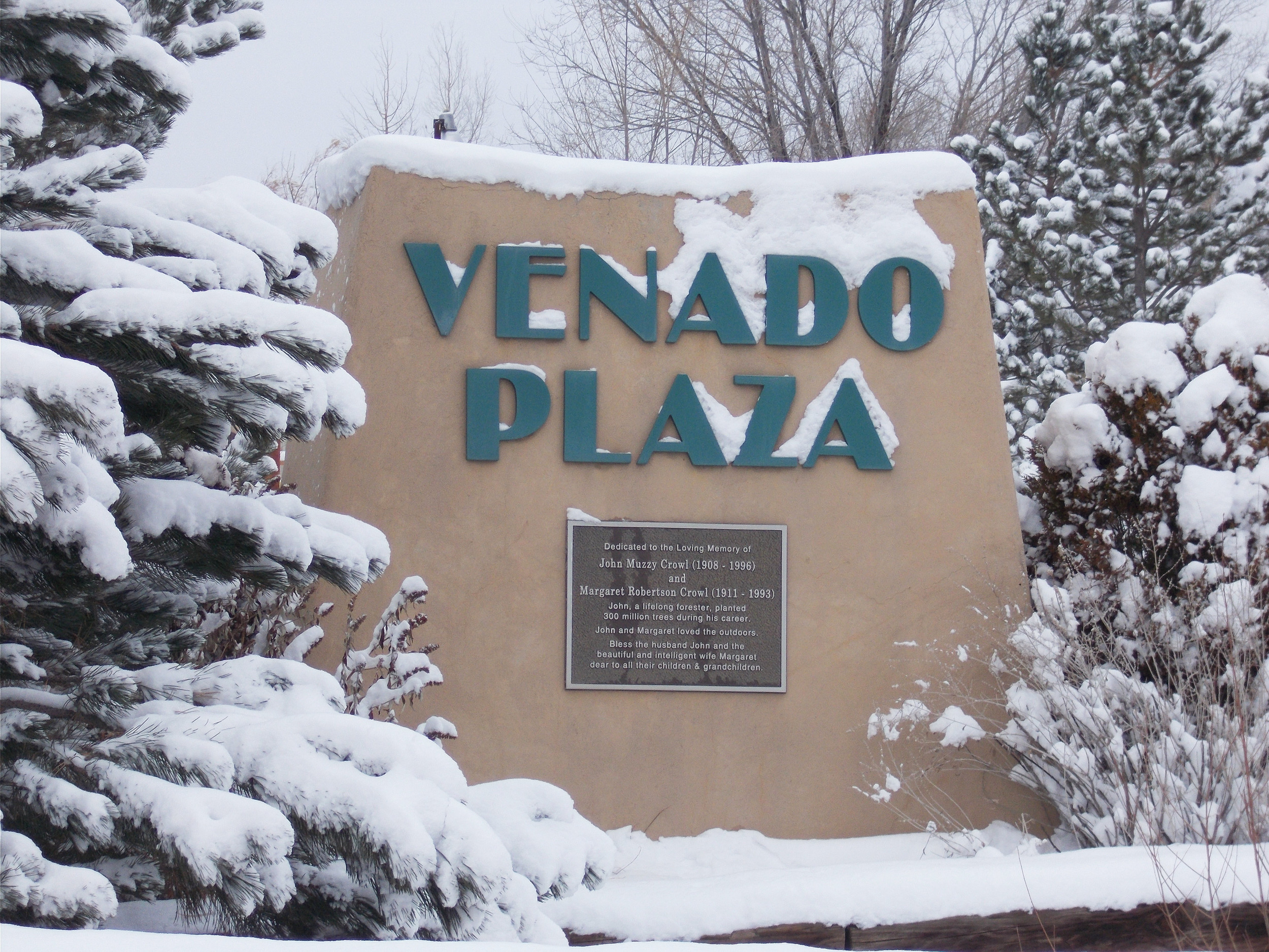 Road Sign Venado Plaza