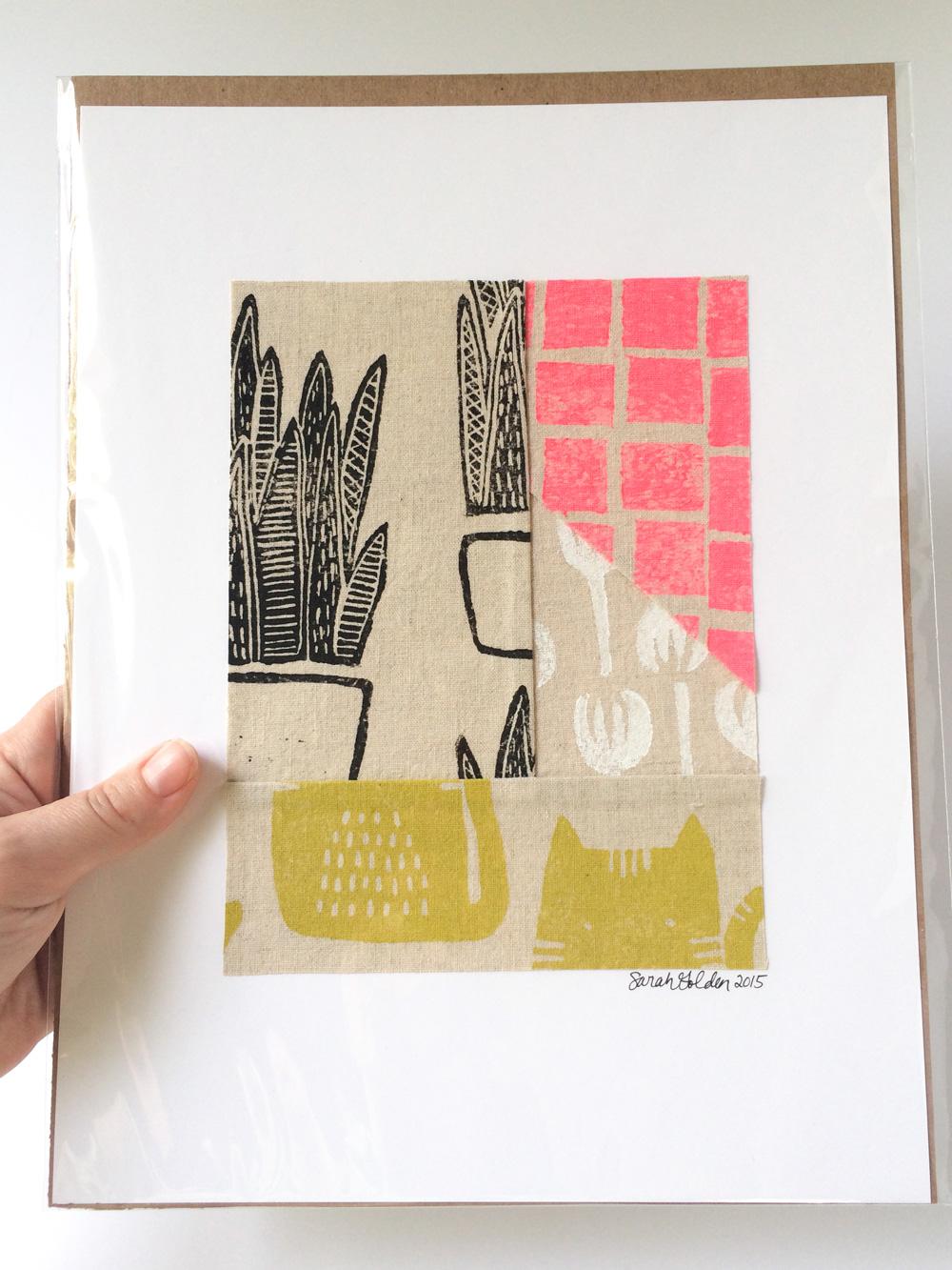 Textile Collage, Sarah Golden
