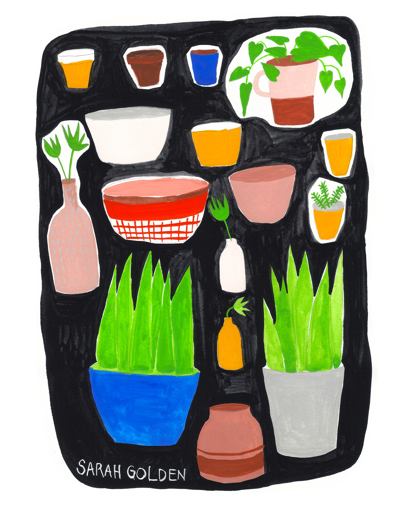 Plants and Pots by Sarah Golden