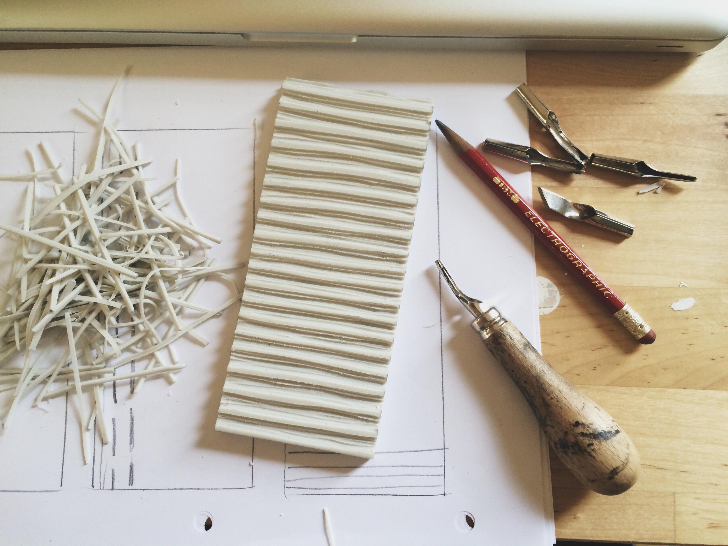 Lines, Block Printing, Sarah Golden