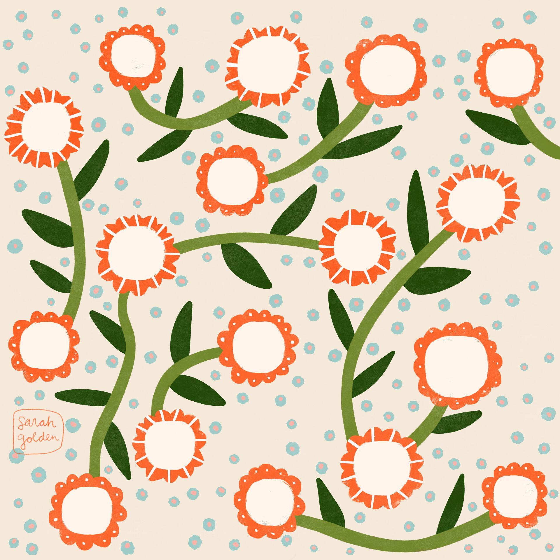 Floral Vines by Sarah Golden