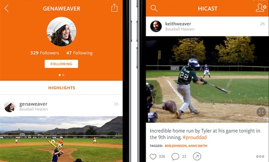 Share your favorite highlights instantly  in our new HiCast Feed, your social network for the ultimate sports experience. Now you can stay in the game by following highlights posted by your teammates, coaches and friends.