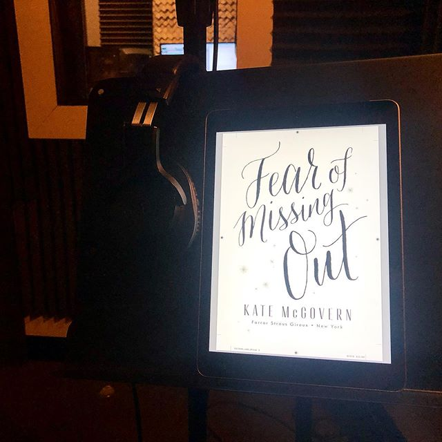 Oh nothing just living my voiceover-actor-life dreams, narrating the FOMO audiobook. Coming soon to @audible! #fearofmissingout #FOMOthebook #FOMOtheaudiobook