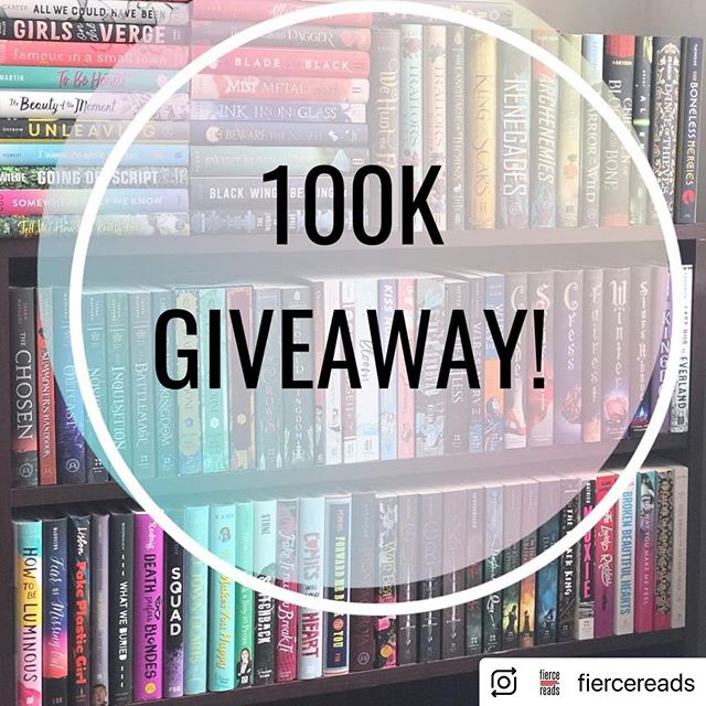 So @fiercereads is giving away all the books (seriously, 100 of them) and #FOMOthebook is one of them so if you want basically a whole new library, head on over there and enter to win!