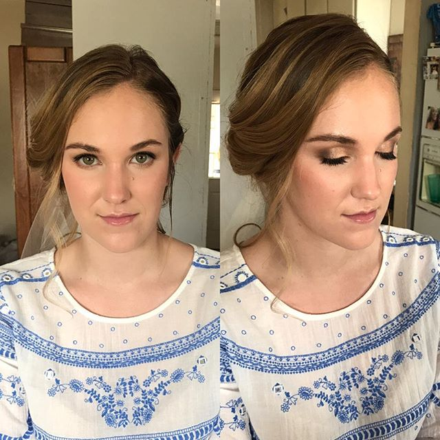 Today's bridal trial! She wanted something natural yet enhanced. My speciality 😘 She has the most gorgeous skin and eyes ever! Can't wait Til your Wedding Taylor!