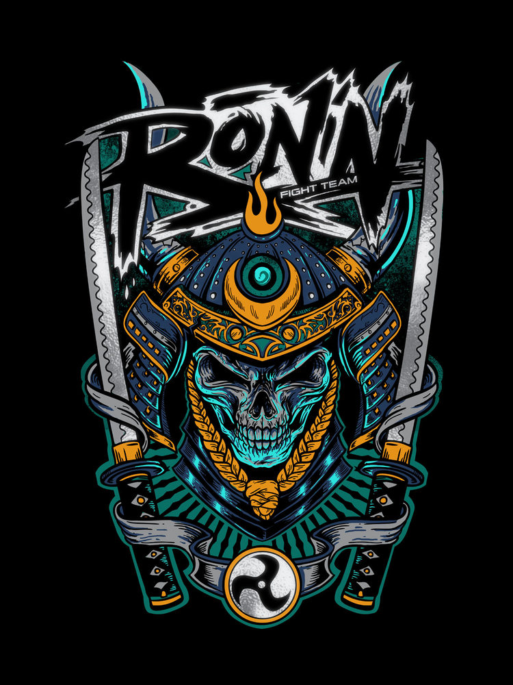 RONIn fight wear - Commisioned illustrations and logo design for Ronin Fight Wear. Inspired by the famous Ronin, Miyamoto Musashi author of the Book of the 5 rings and creator of the Nitten Ryu (double sword) fighting style.