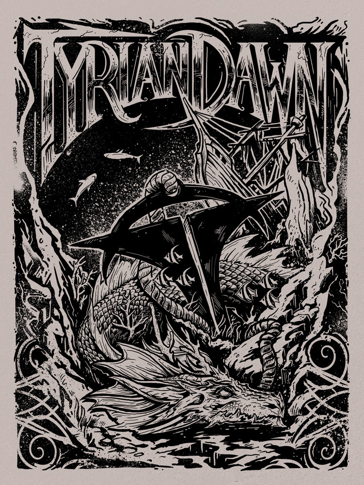 guardian of the deep - Commissioned illustration for the band Tyrian Dawn. Available for purchase at Redbubble