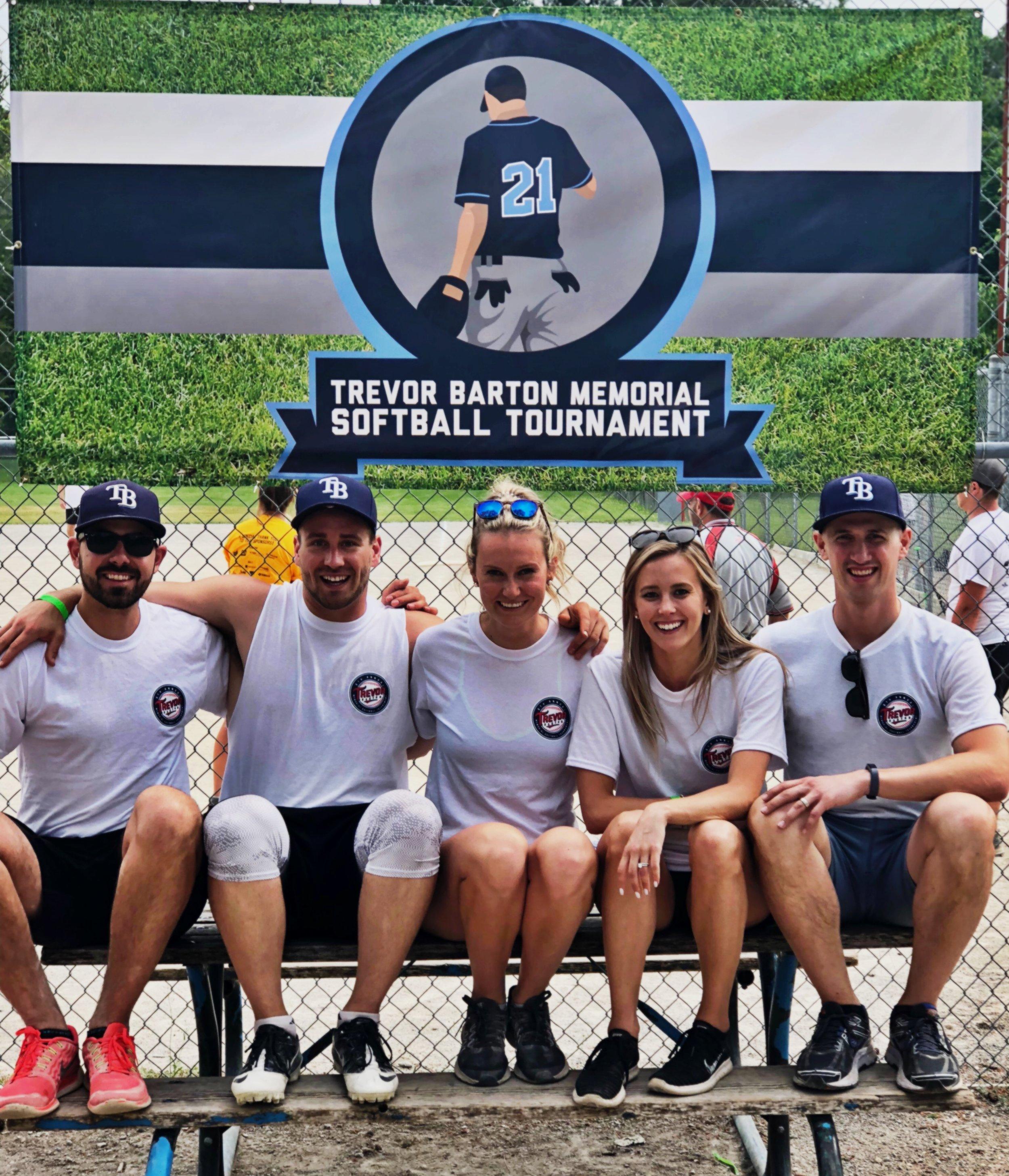 Jamie, Jordan, Tory, Amanda, and James @ the 6th Annual TB Memorial Softball Tournament.