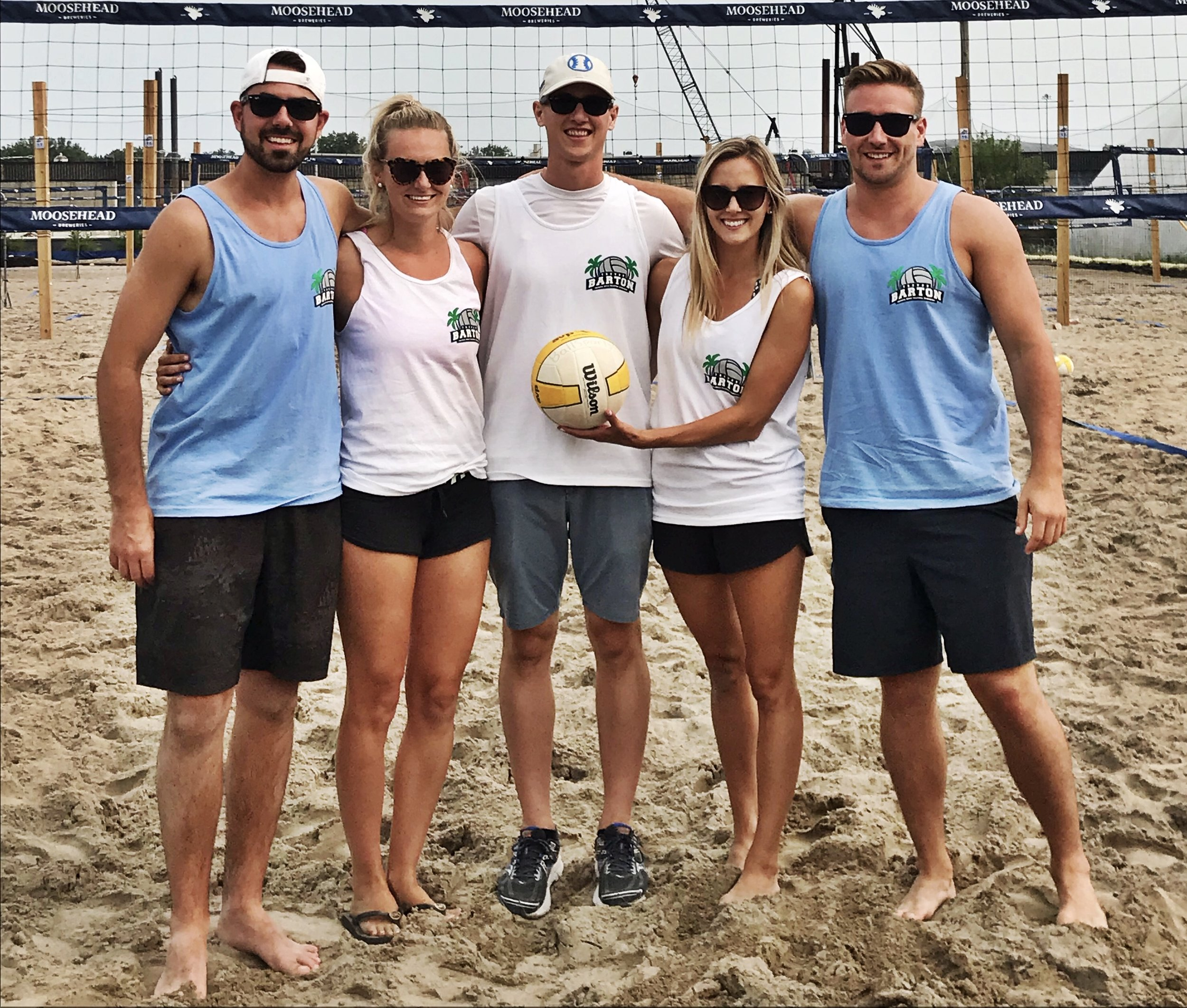 Jamie, Tory, James, Amanda, and Jordan @ the 2nd Annual TB Memorial Beach Volleyball Tournament