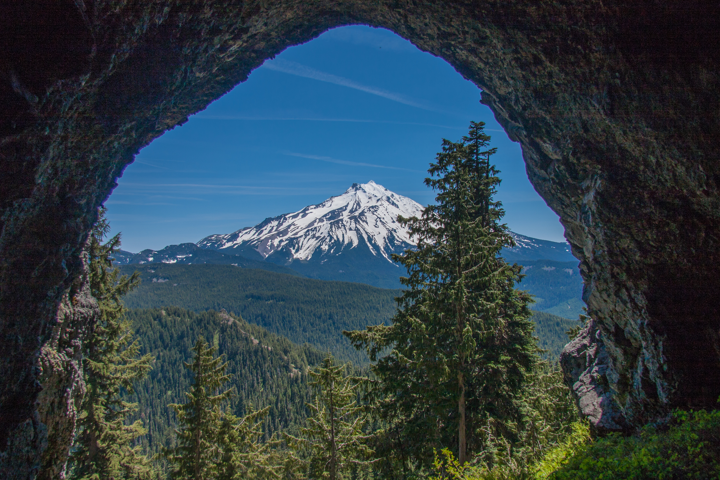 Boca Cave and Mt Jefferson, Oregon