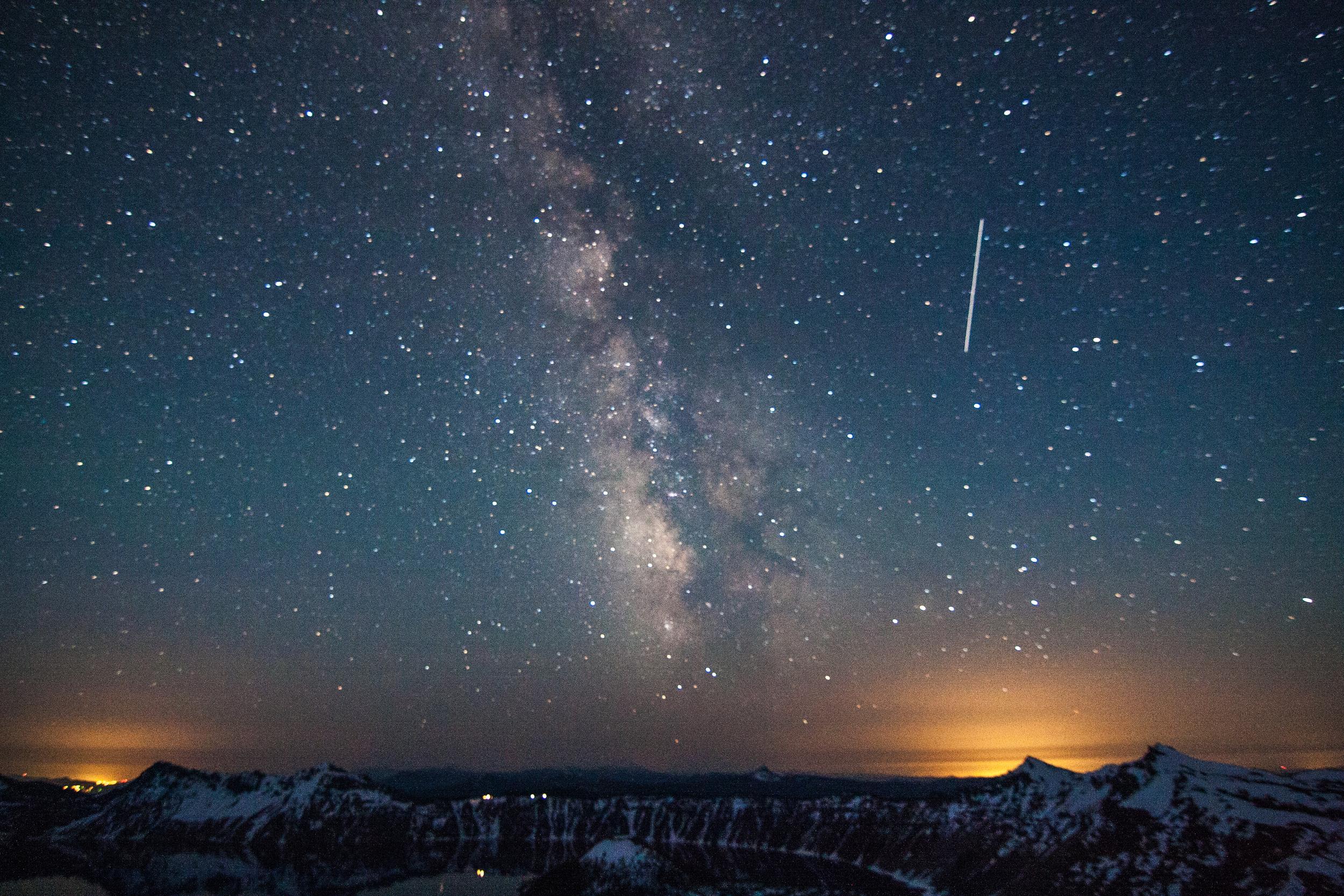 International Space Station over Crater Lake, Oregon, 2014.