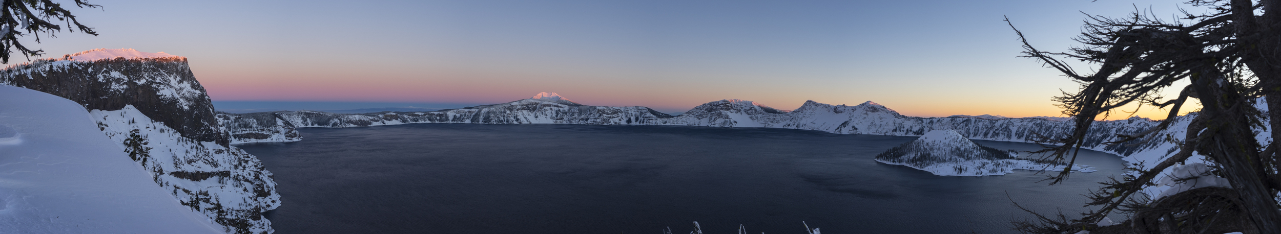 Sunset at Crater Lake, Oregon, 2016