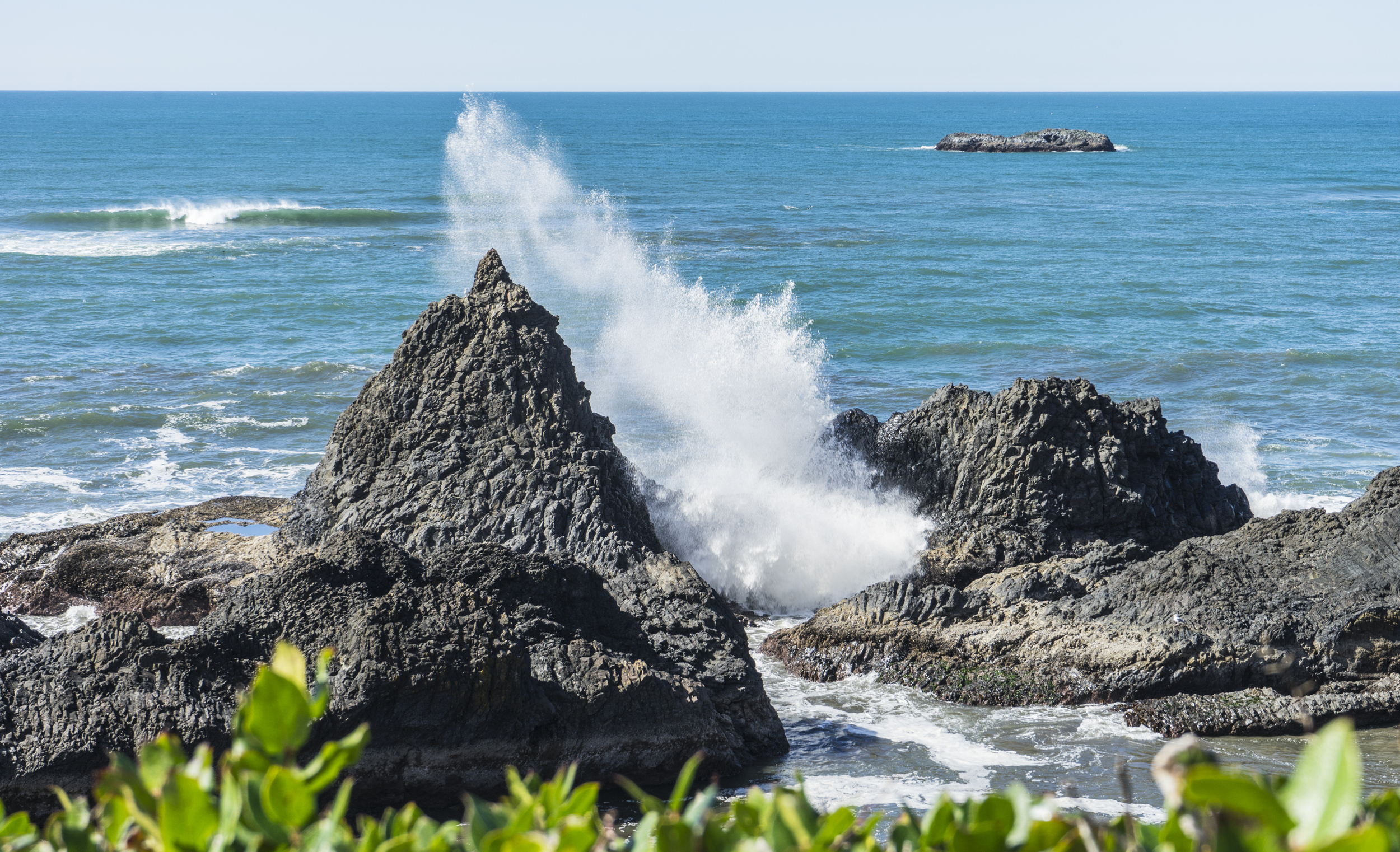 Wave crashing at Seal Rock, Oregon