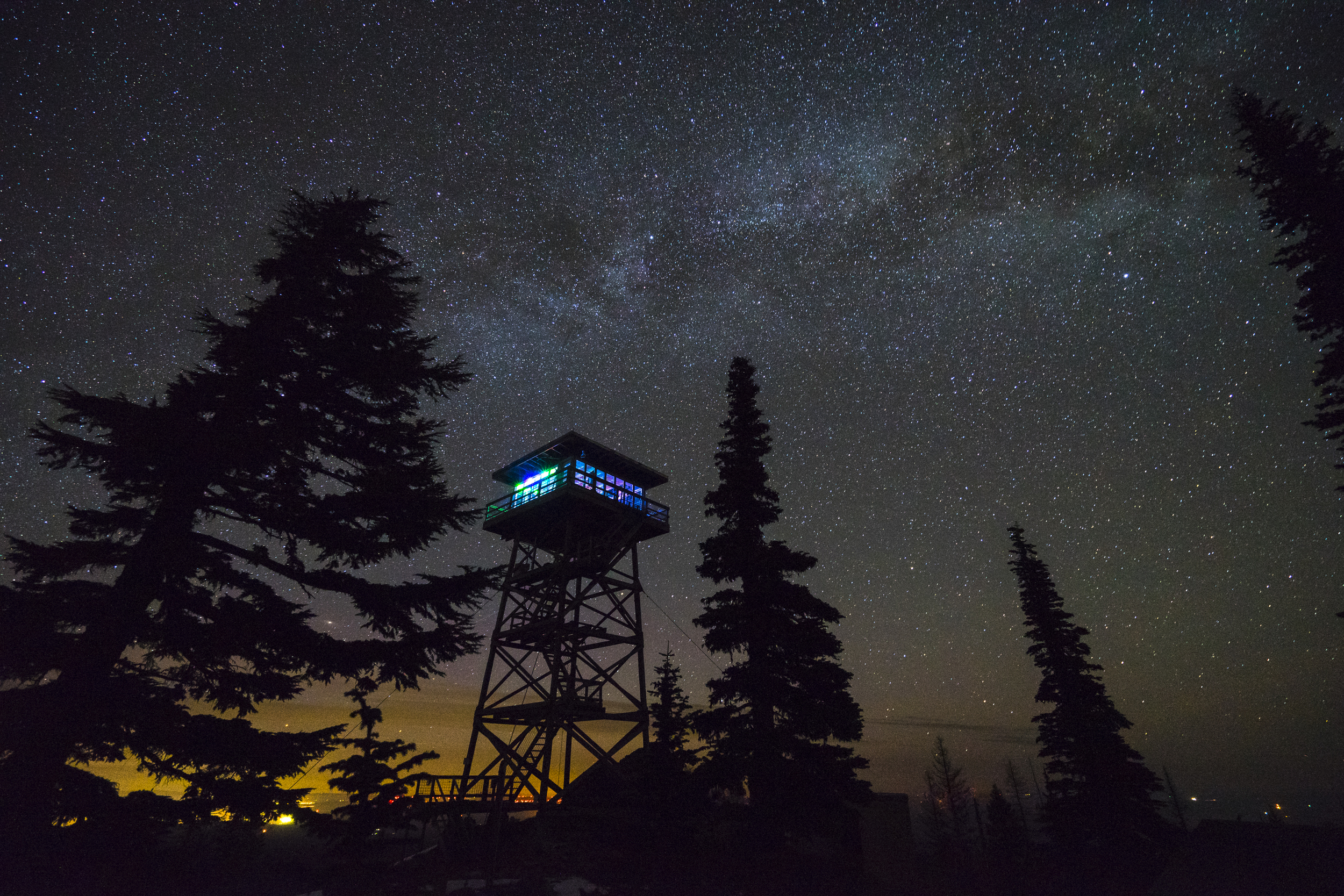 The Milky Way over Flag Point Lookout.