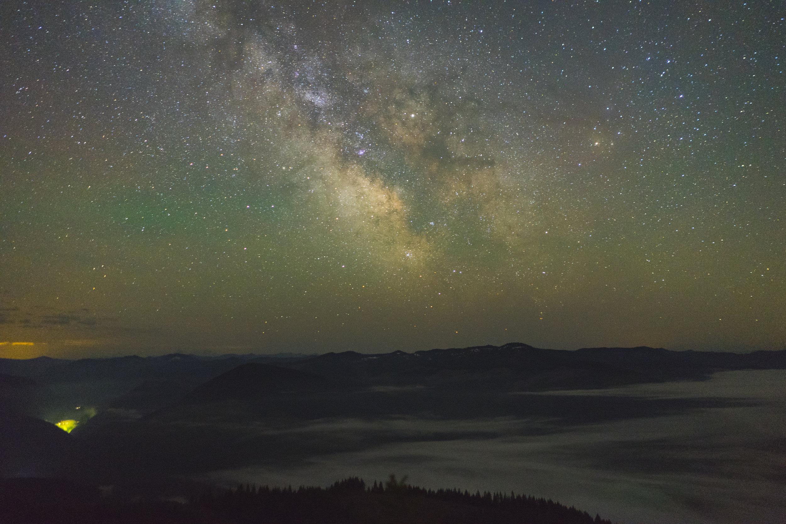 Milky Way and Detroit Dam, Oregon