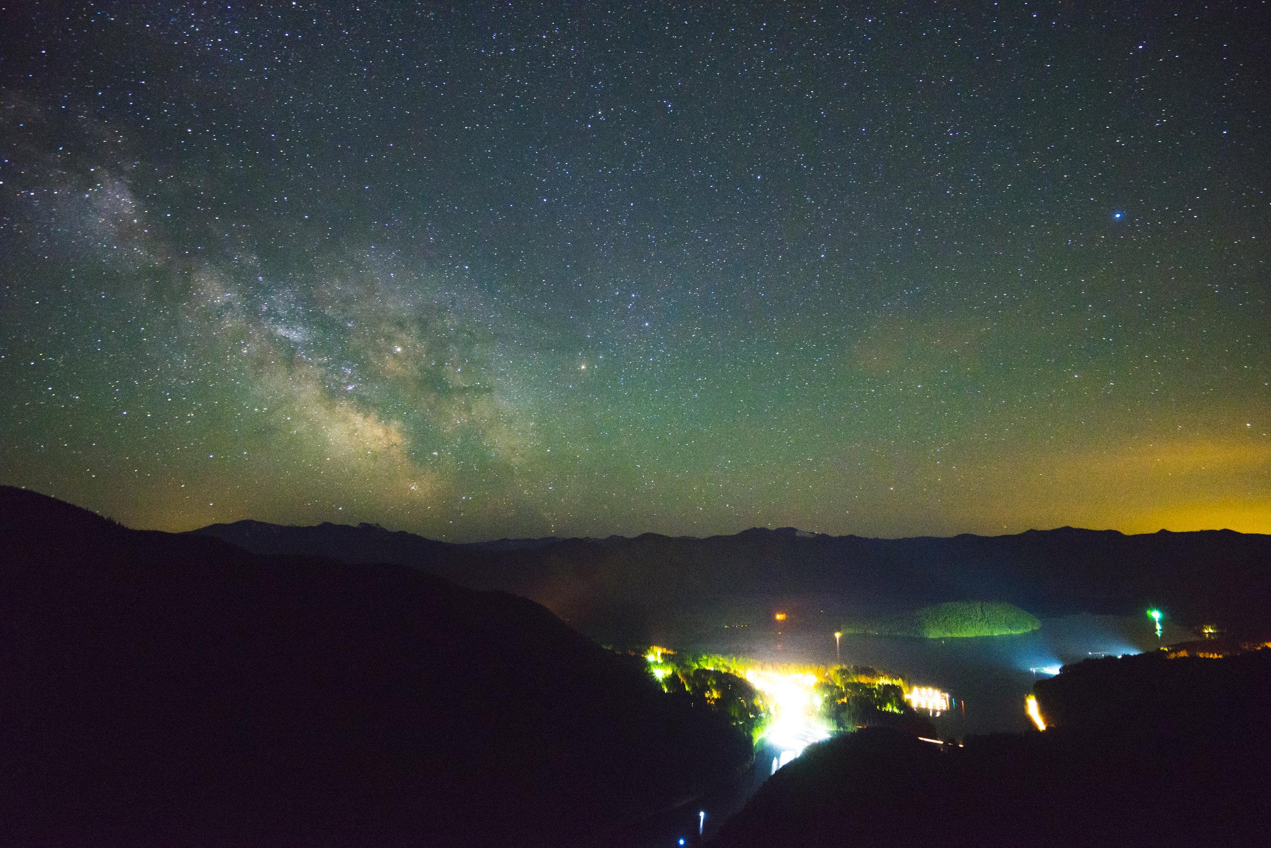 Milky Way over Detroit Lake, Oregon