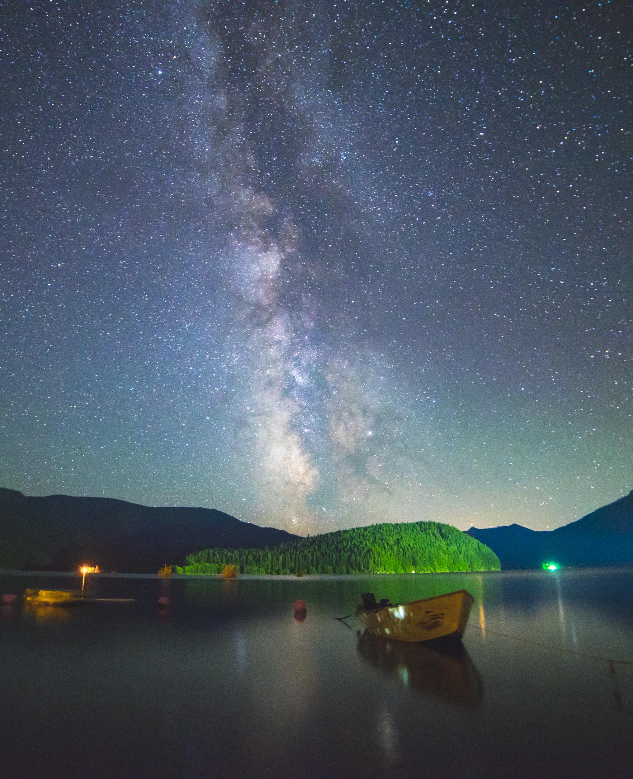 Detroit Lake under the Milky Way, Oregon