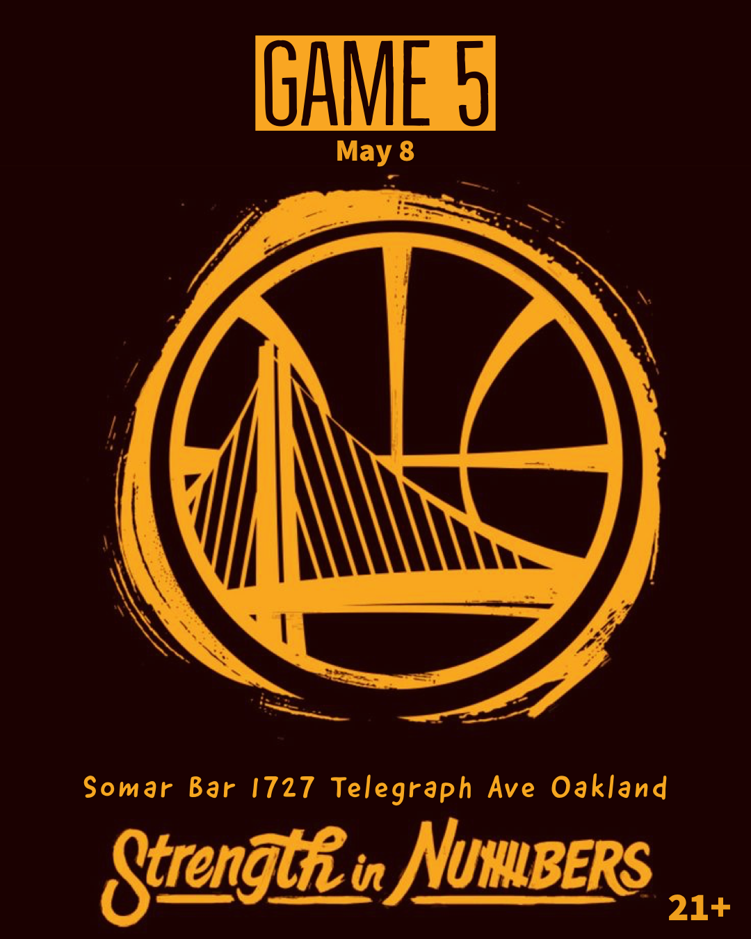 at Somar Bar Oakland  Happy Hour Tunes + Game 5  with RUBY RED I, CRISP ONE, GELSON, KID DEE & ANT-ONE  in the mix