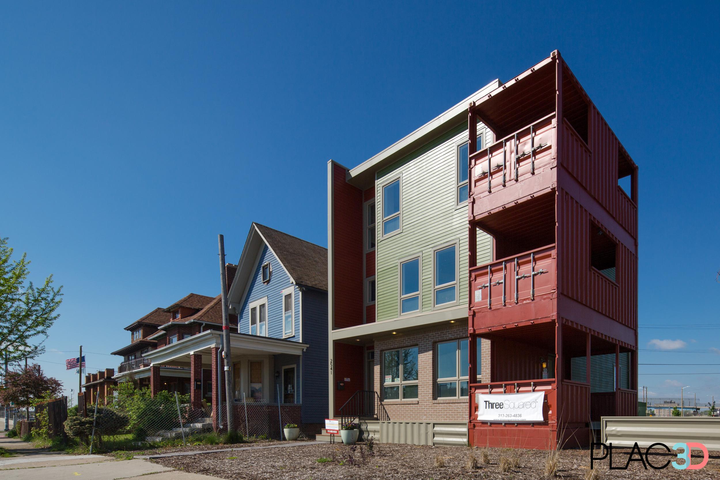 Three Squared Model Center on Trumbull in Detroit's Corktown neighborhood