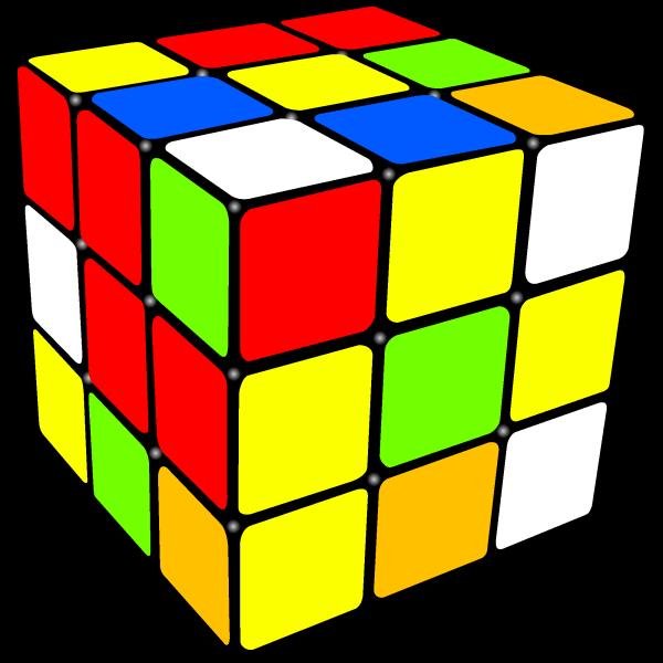 a scrambled Rubik's Cube